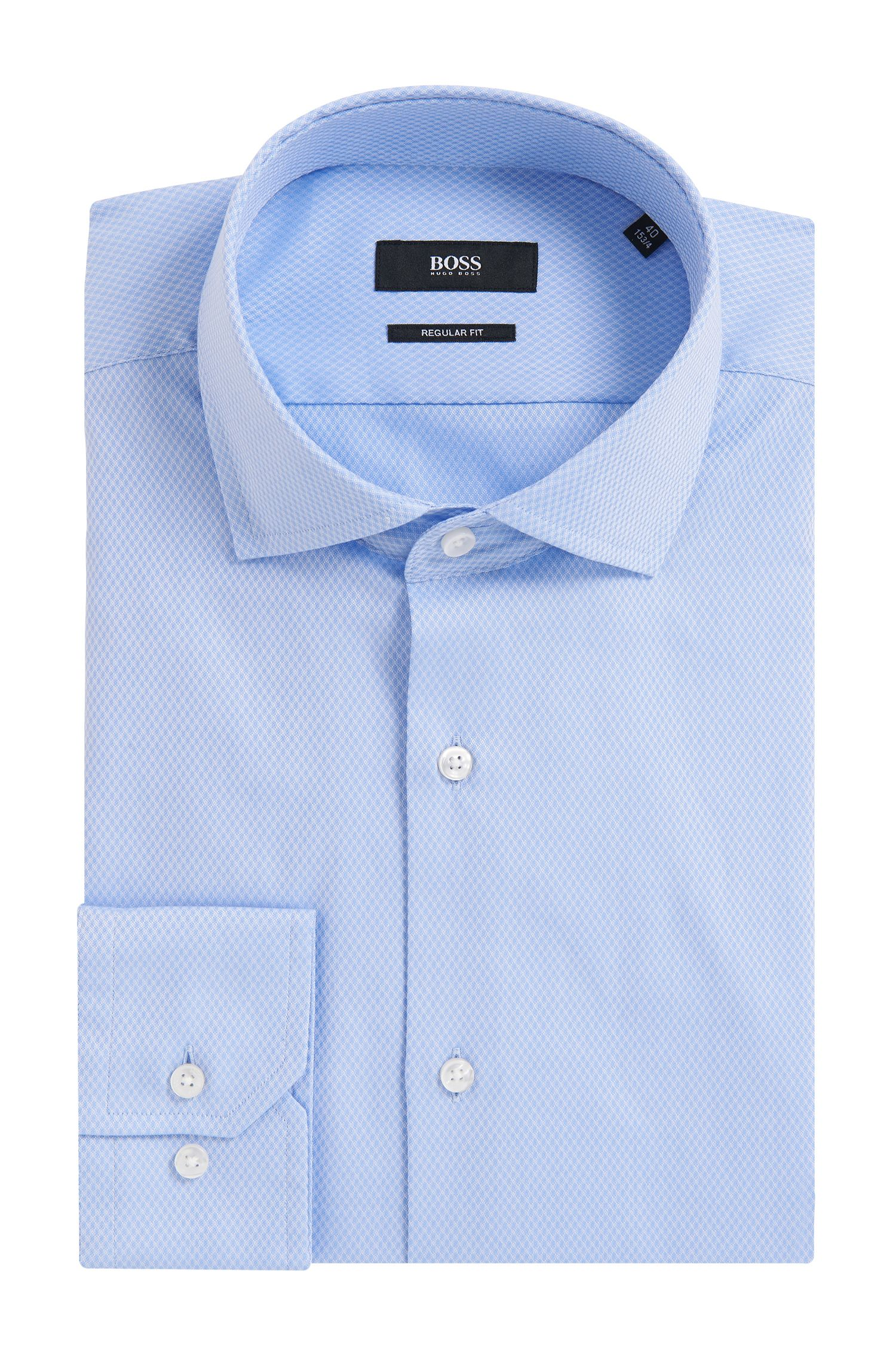 Gemustertes Regular-Fit Hemd aus Baumwolle