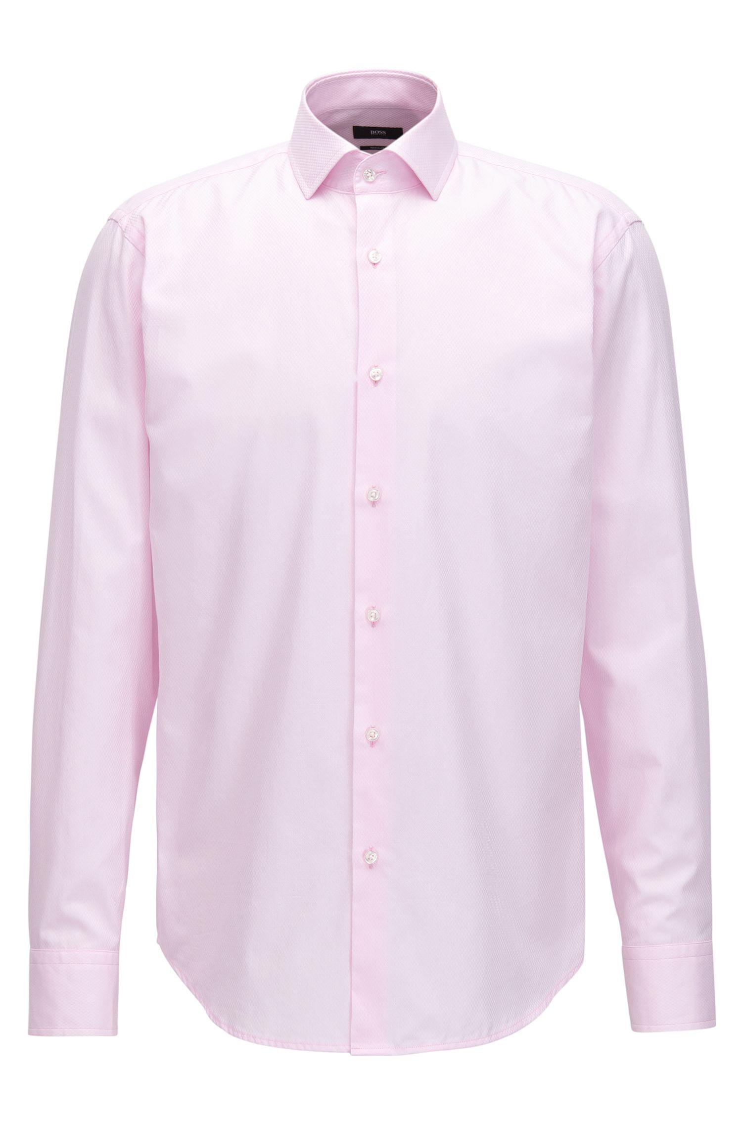 Camicia regular fit in cotone con particolare motivo