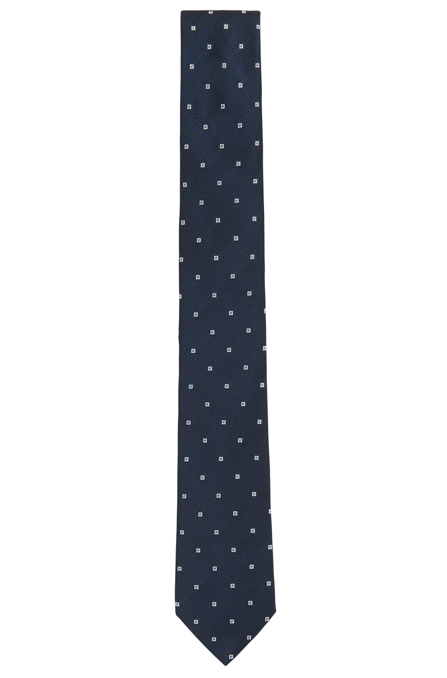 Cravatta a disegni in jacquard di seta tinto in filo