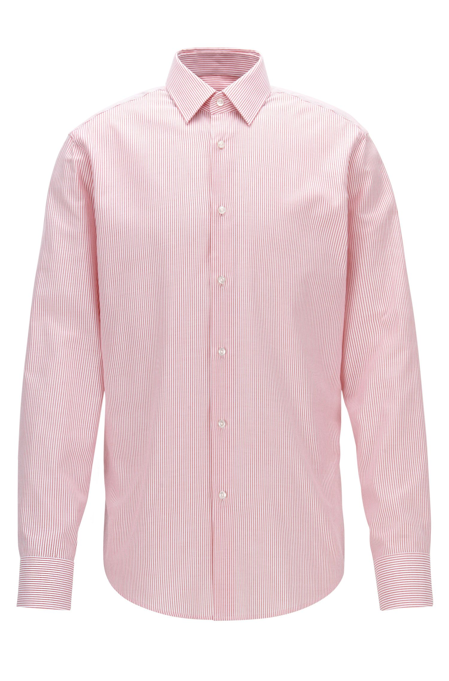 Camisa regular fit a rayas en algodón Oxford