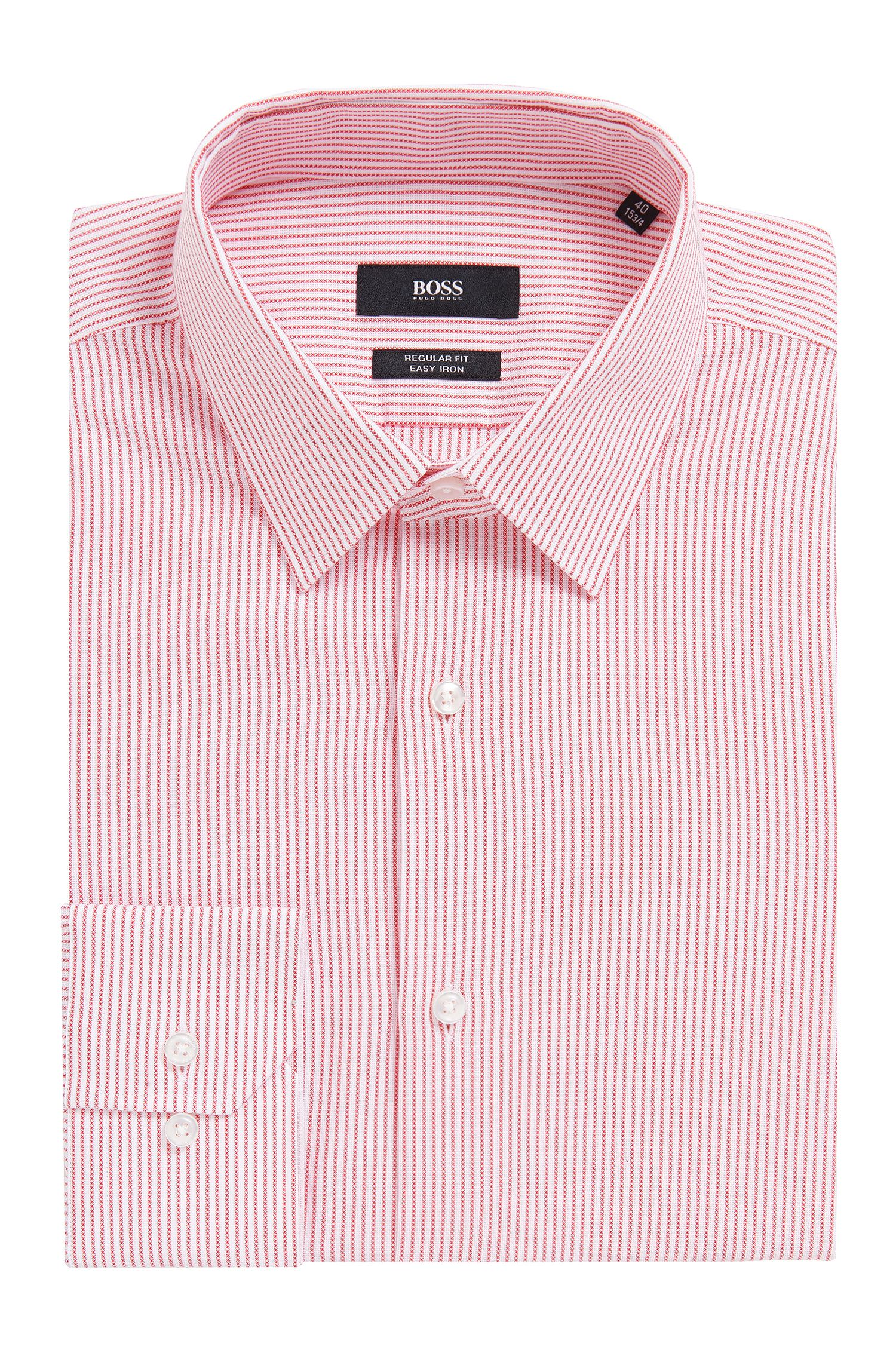 Chemise rayée Regular Fit en coton Oxford
