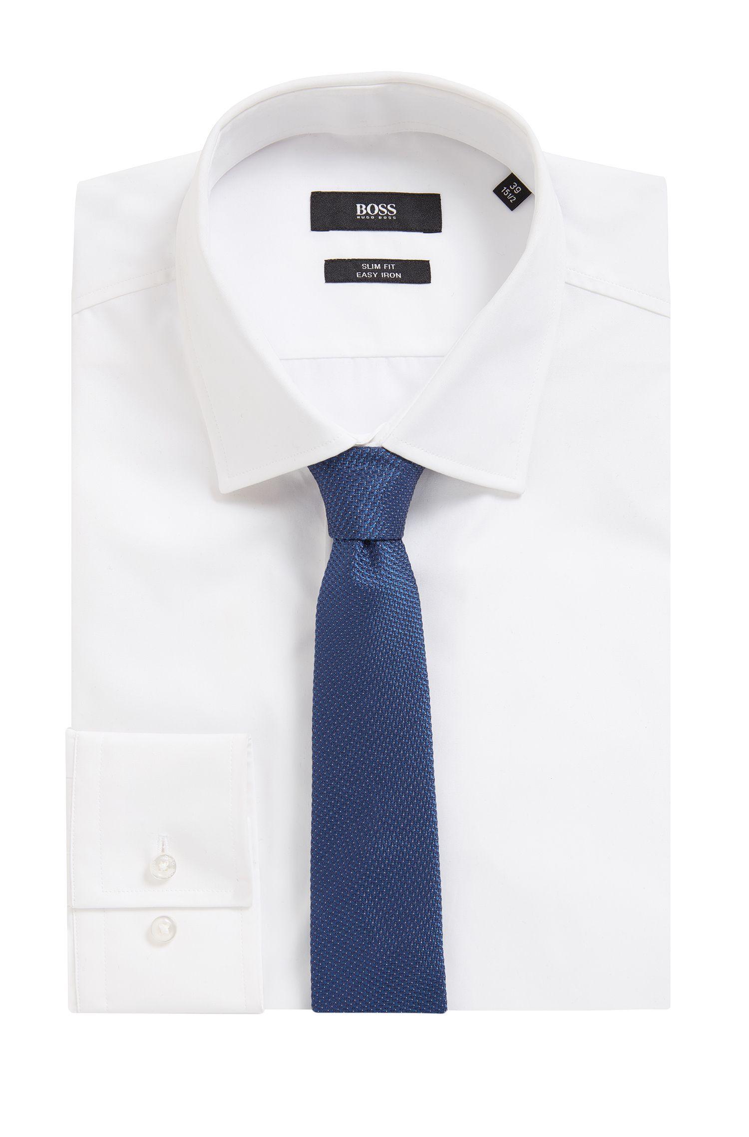 Cravate en jacquard de soie à pois tête d'épingle