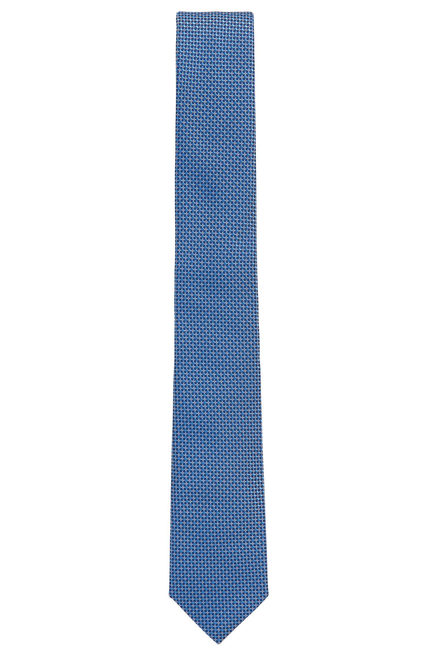 Handmade Italian-silk tie in a patterned jacquard