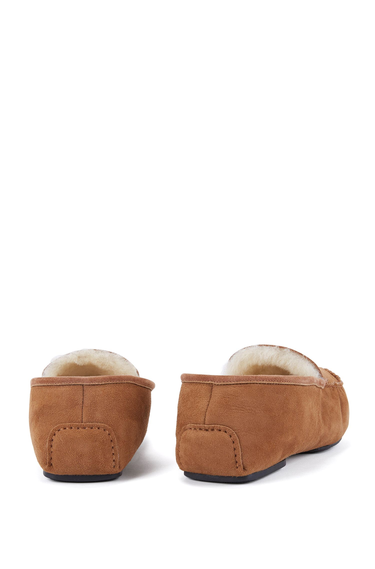 Suede moccasins with shearling lining BOSS
