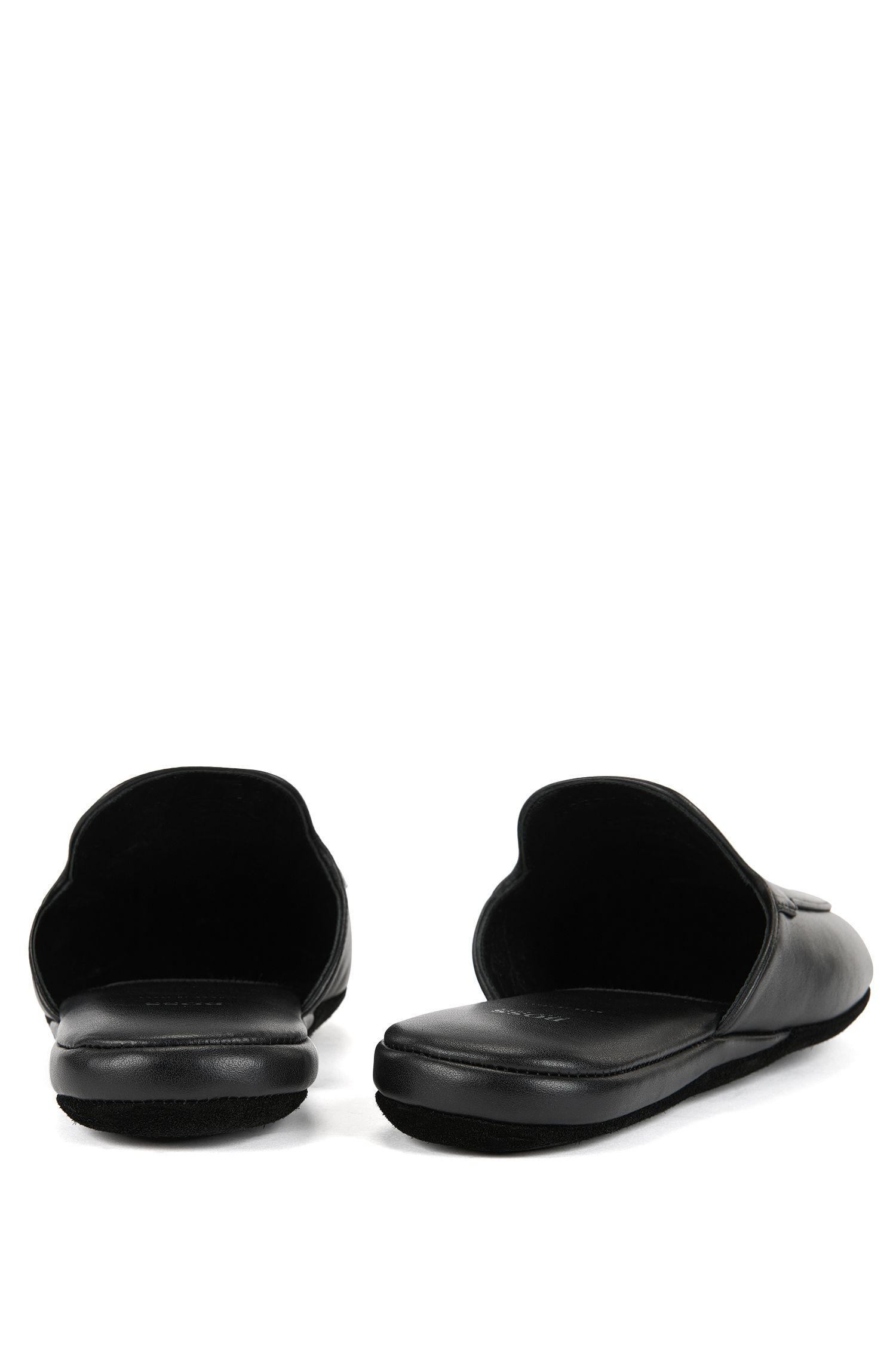 Slip-on shoes in nappa leather, Black