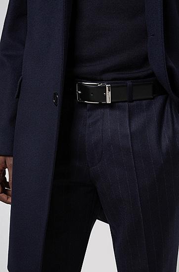 抛光针扣腰带扣双面腰带,  004_黑色