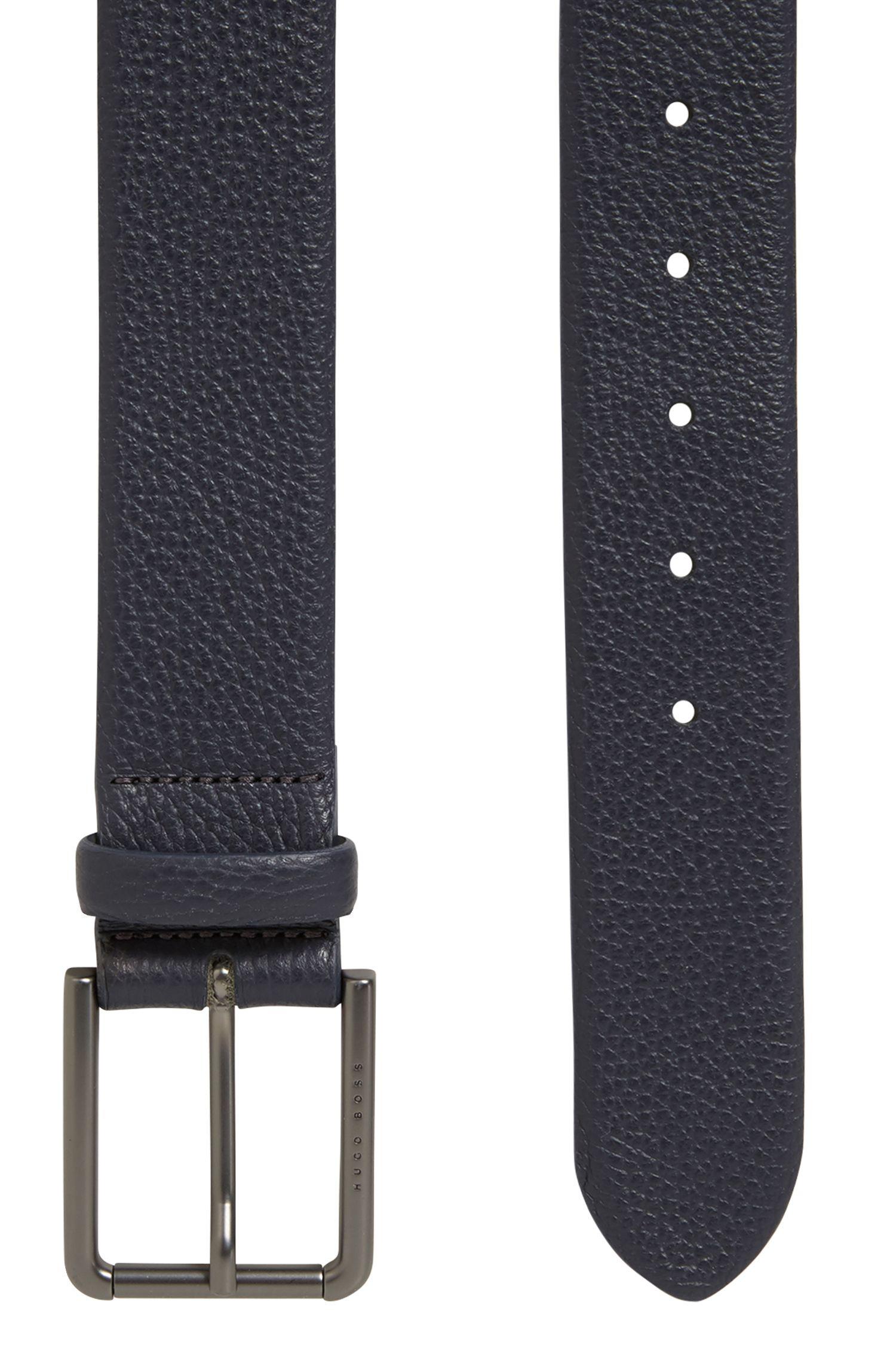 Cinturón en piel granulada