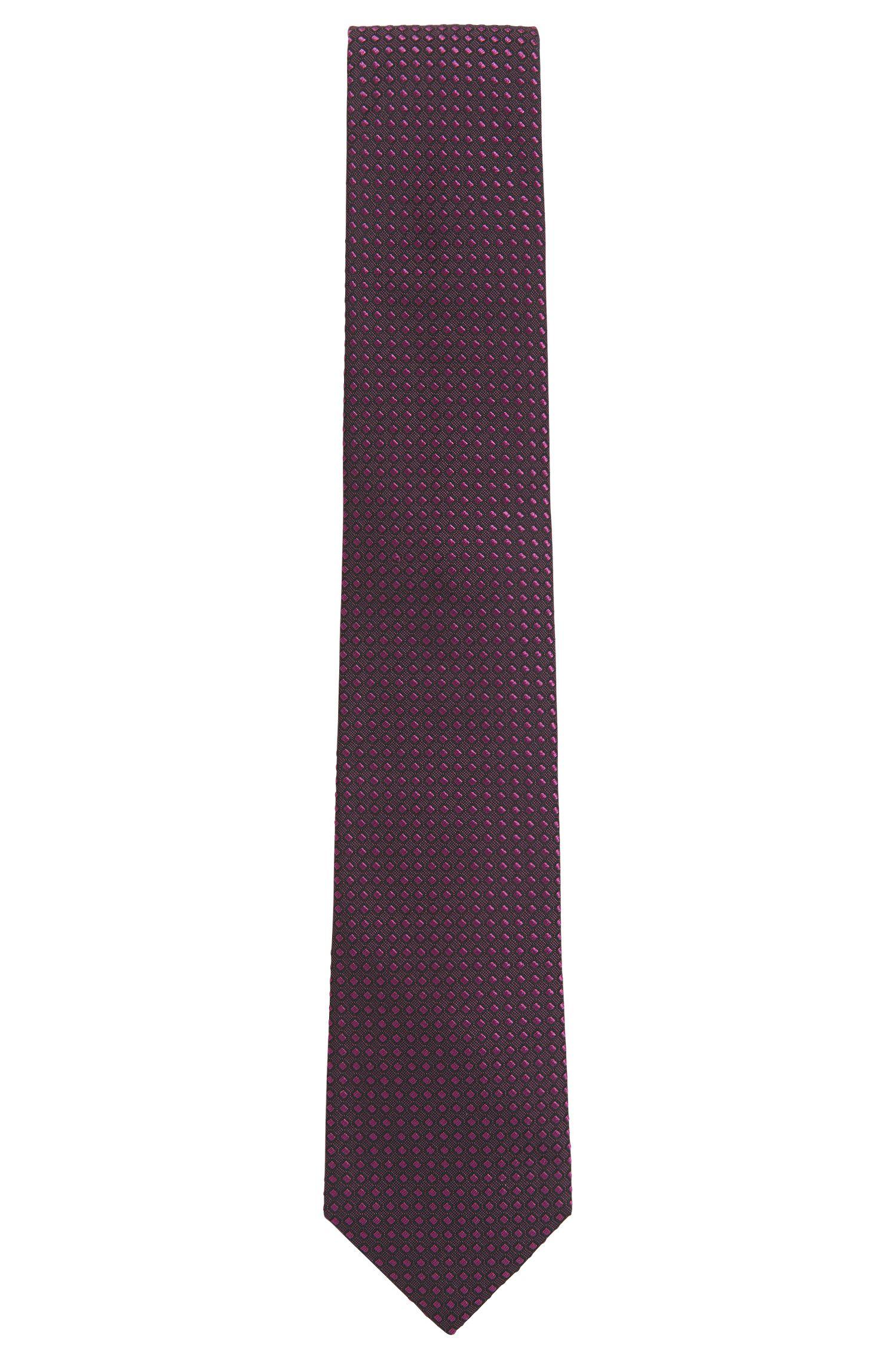 Ton in Ton gemusterte Krawatte aus Seiden-Jacquard