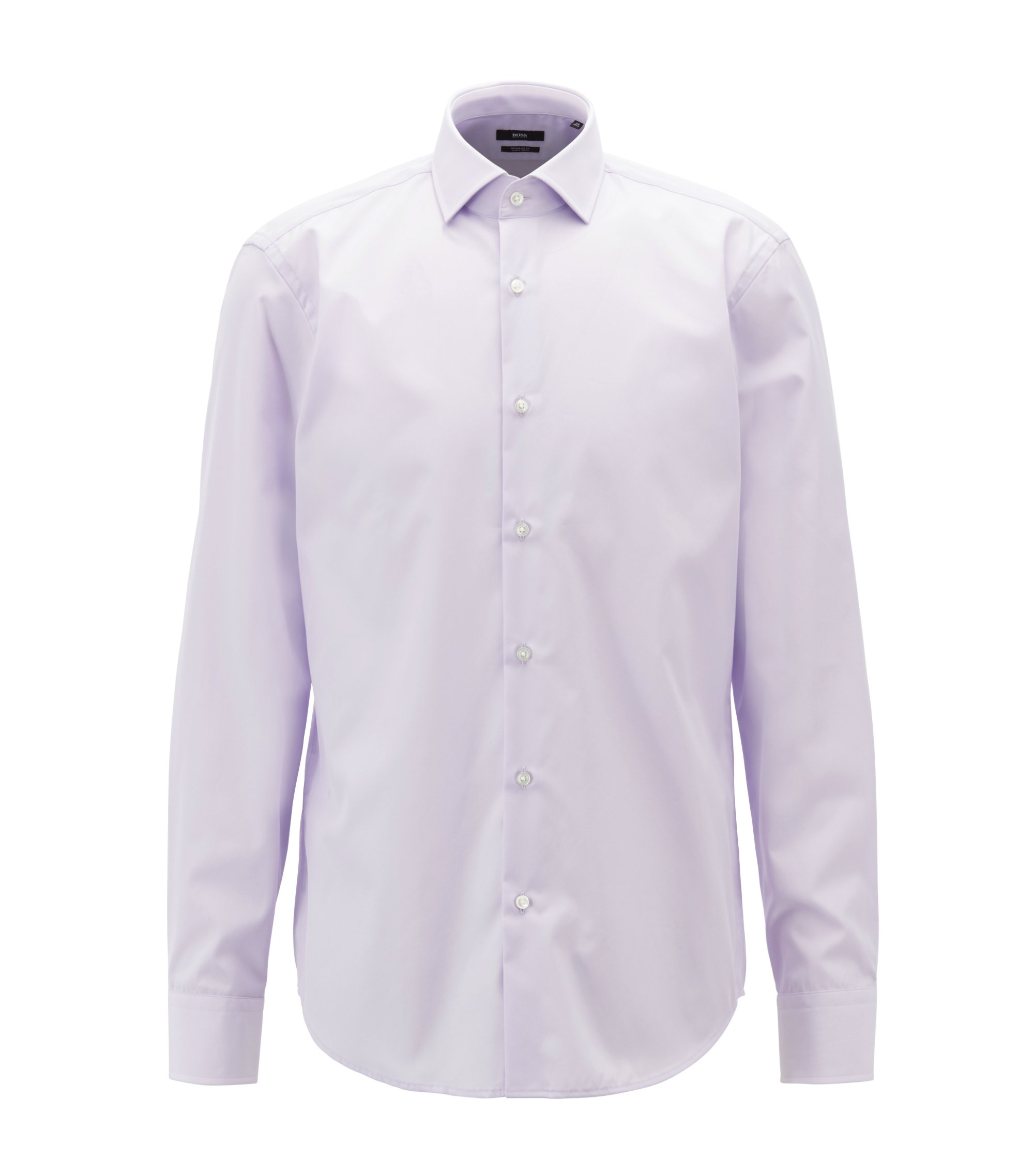 Easy-iron cotton shirt in a regular fit, Light Purple