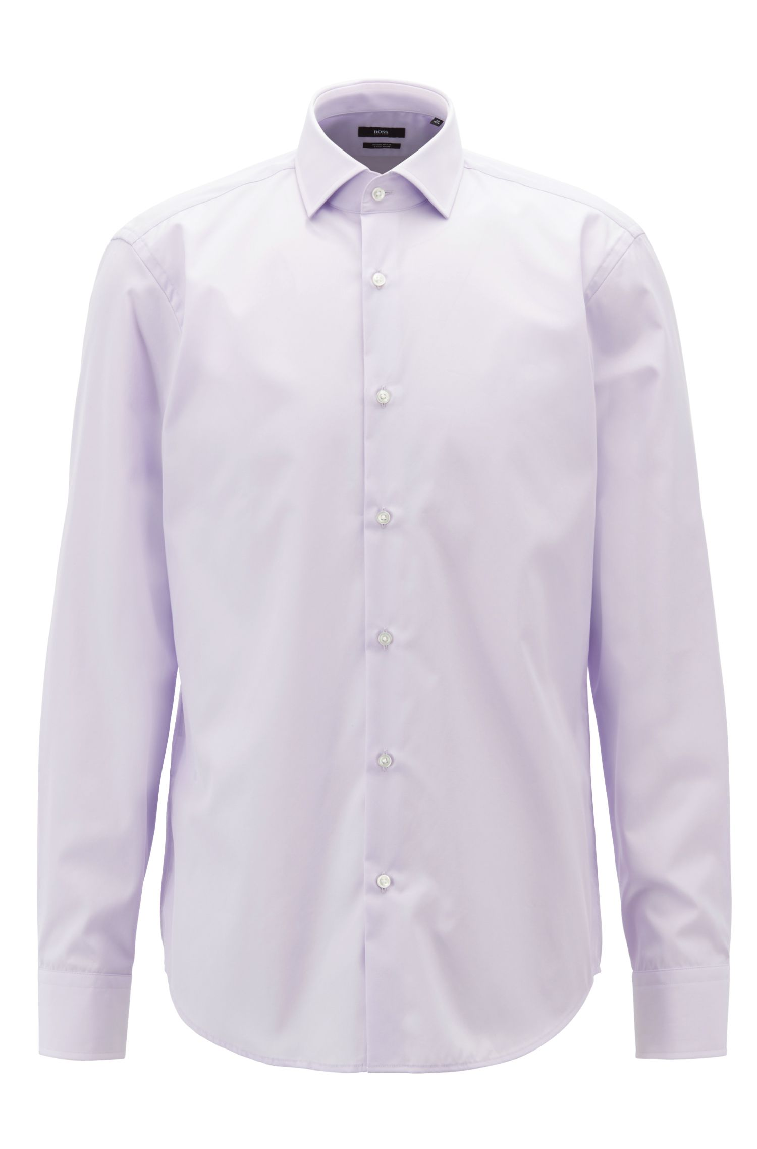 Easy-iron cotton shirt in a regular fit