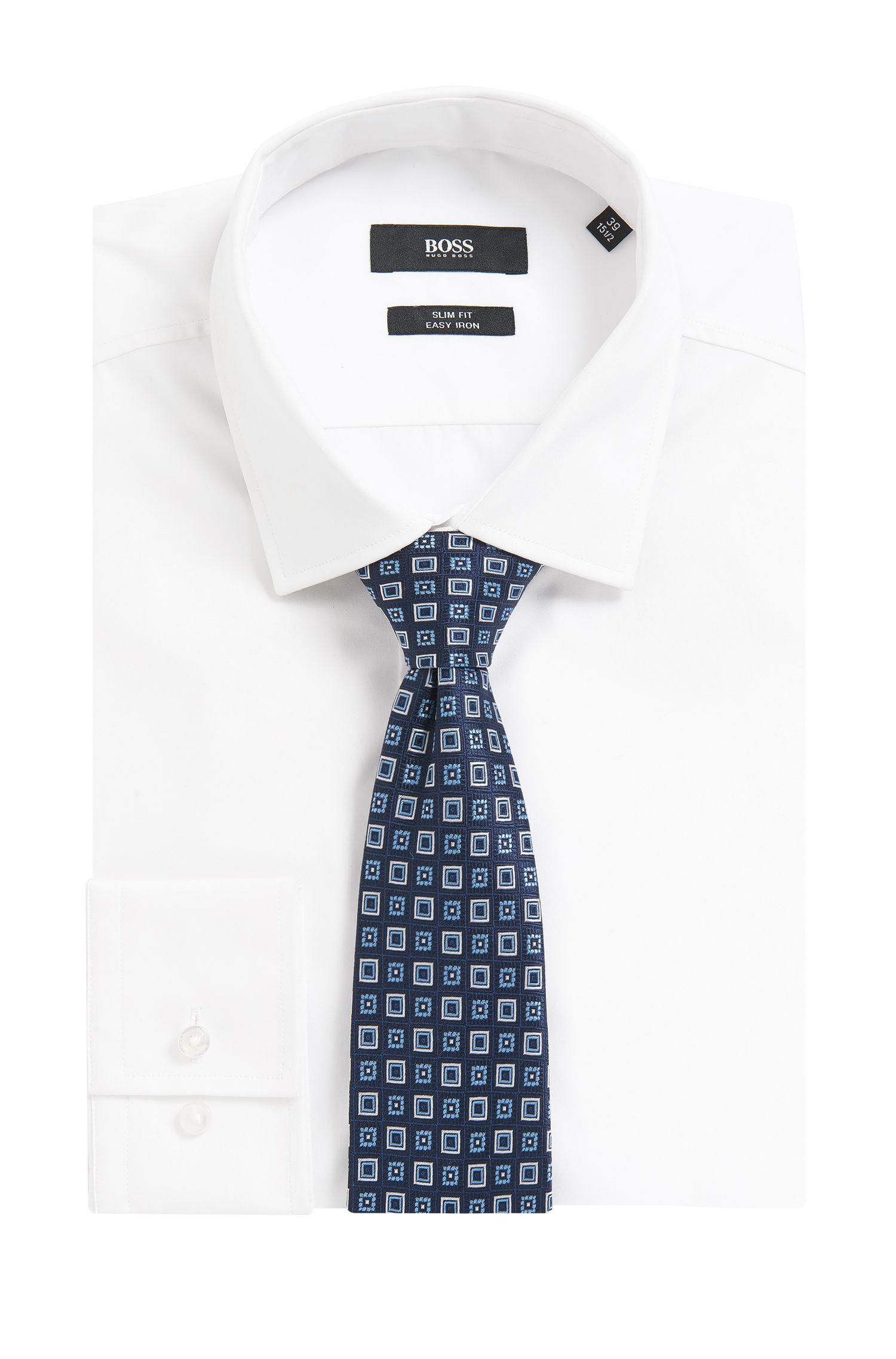 Cravatta in seta con motivo jacquard