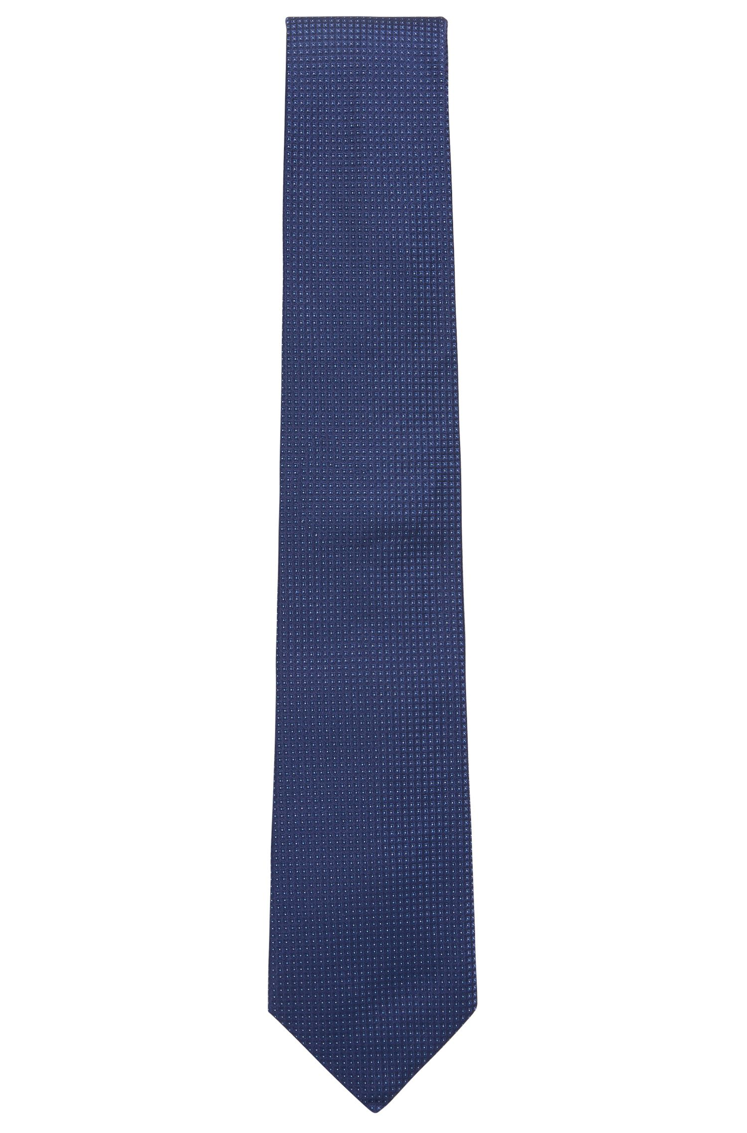 Zijden stropdas in jacquard met microdessin