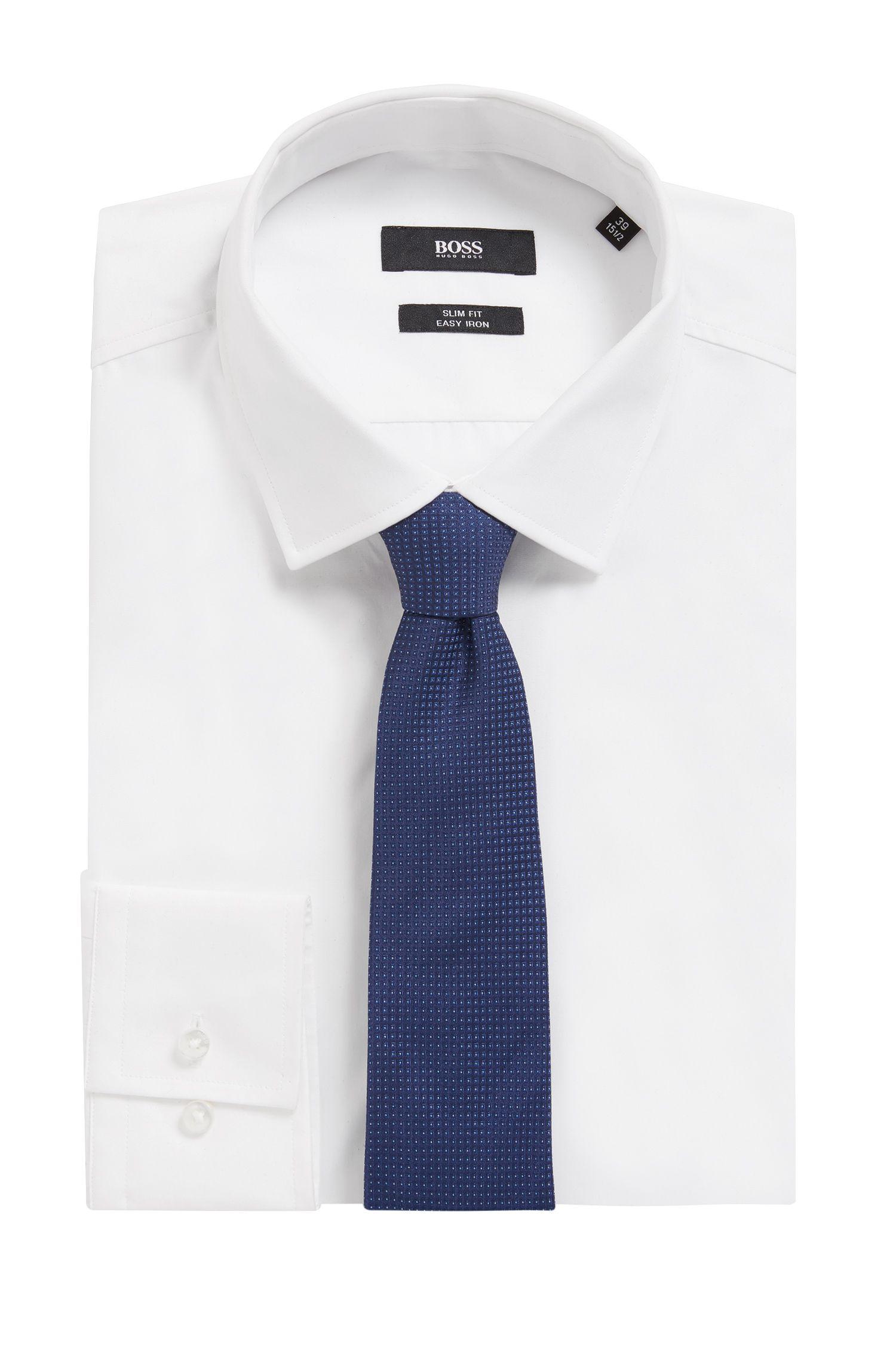 Gemusterte Krawatte aus reiner Seide mit Jacquard-Struktur