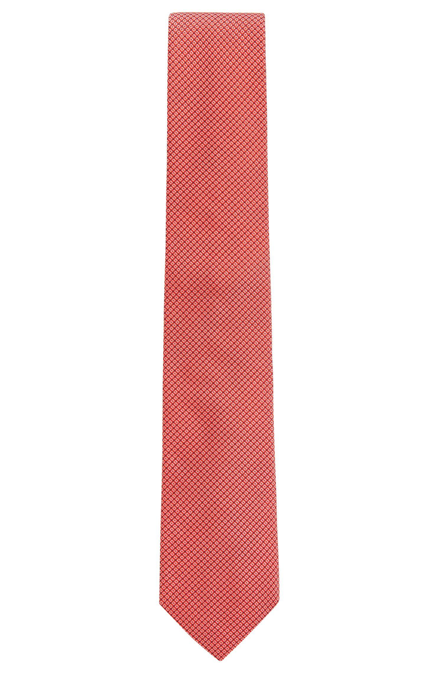 In Italien gefertigte Seiden-Krawatte mit Jacquard-Muster