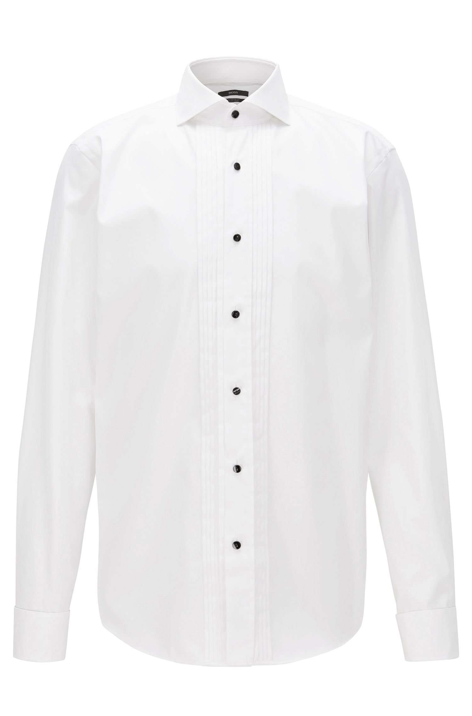 Camicia da smoking regular fit in cotone facile da stirare