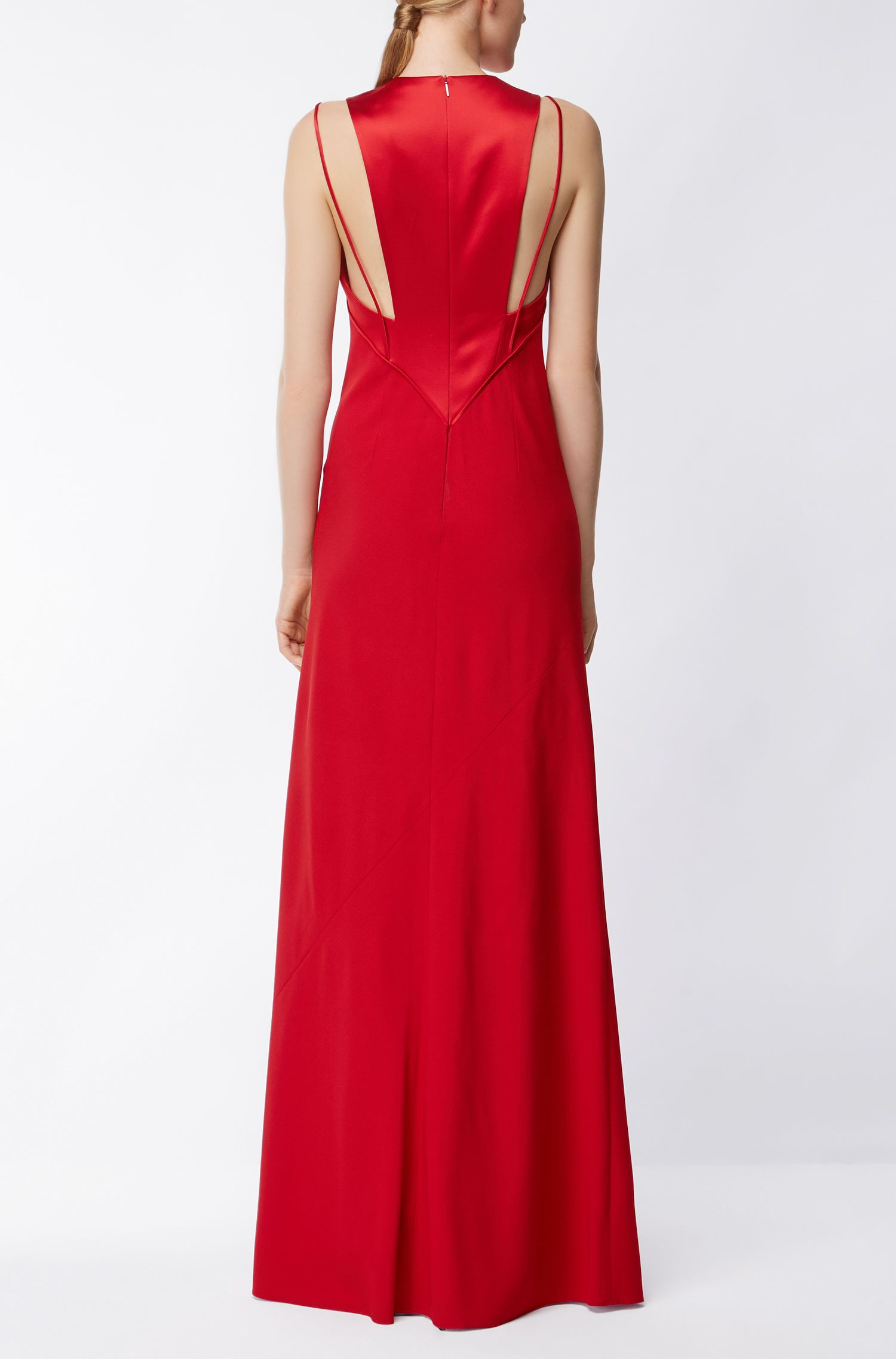 Evening gown in fluid fabric