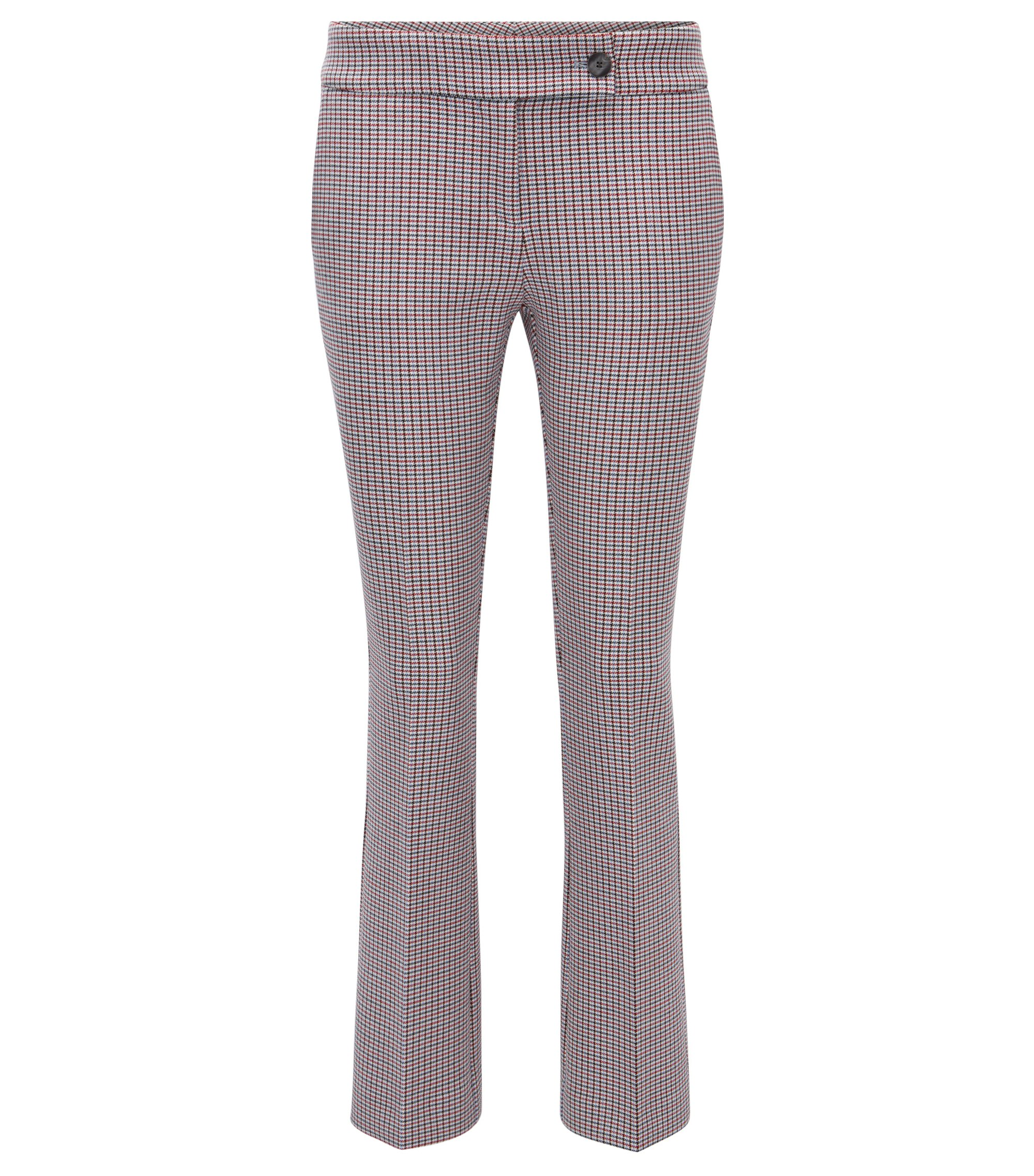 Pantaloni regular fit in tessuto double-face, A disegni