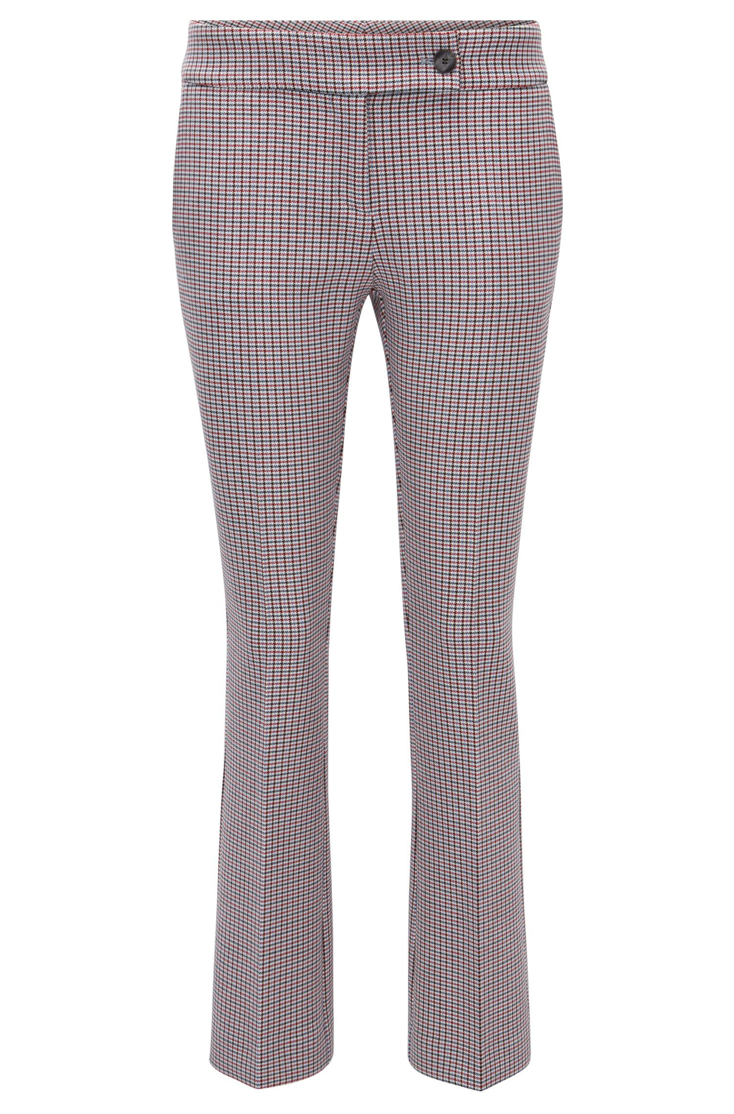 Regular-fit trousers in double-faced fabric