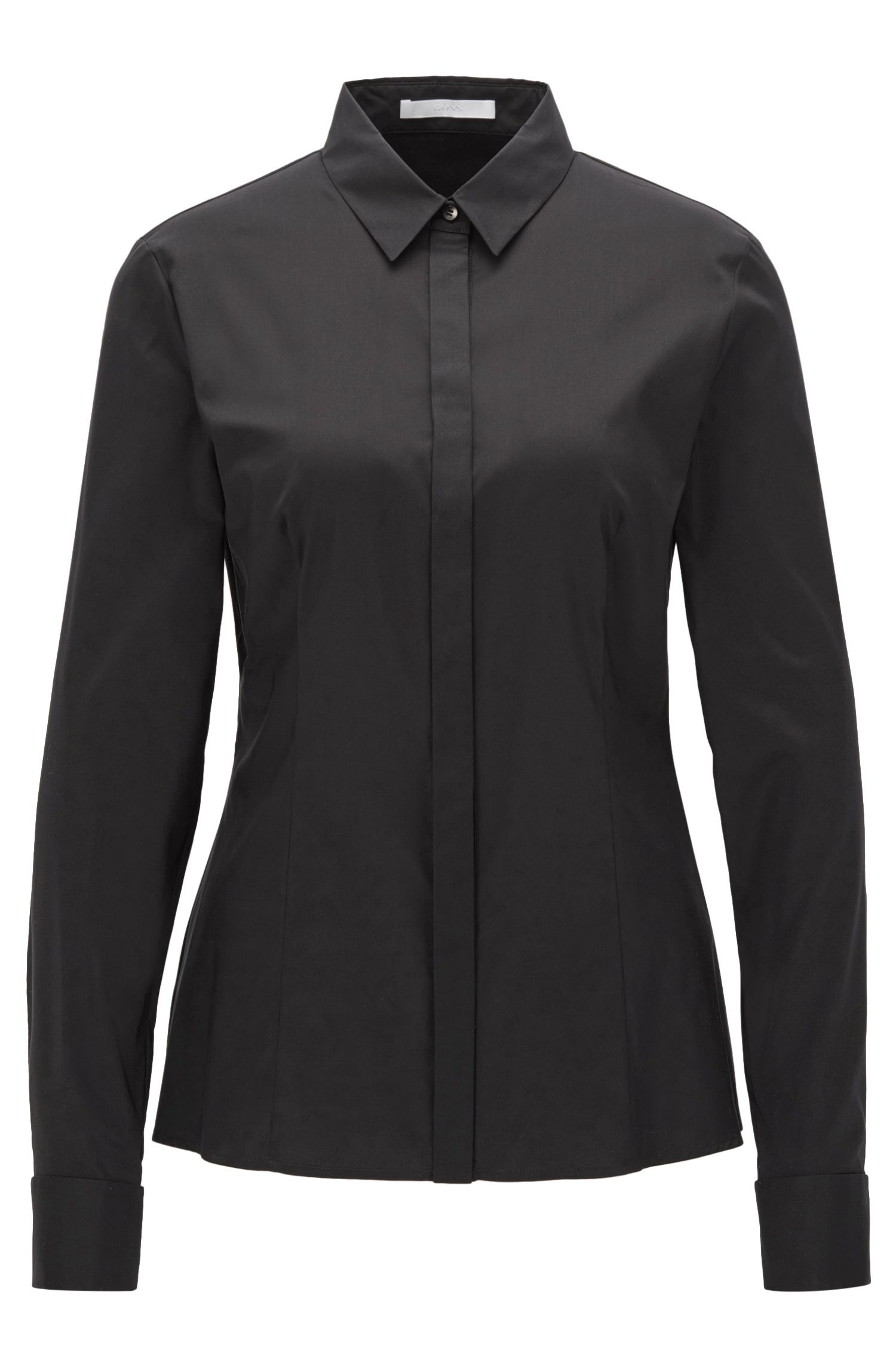 Regular-fit blouse van een katoenmix