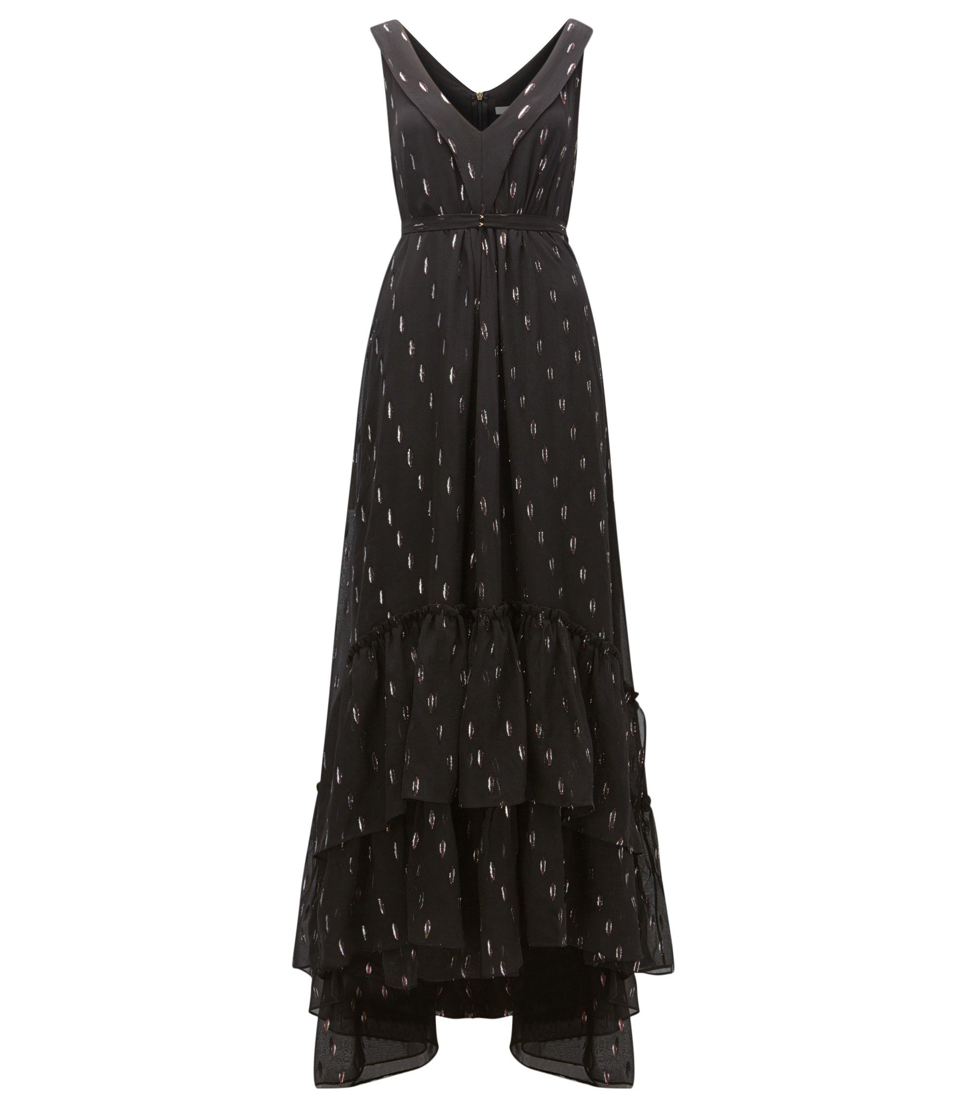 Maxi robe en mousseline à motif, à effet superposé, Fantaisie
