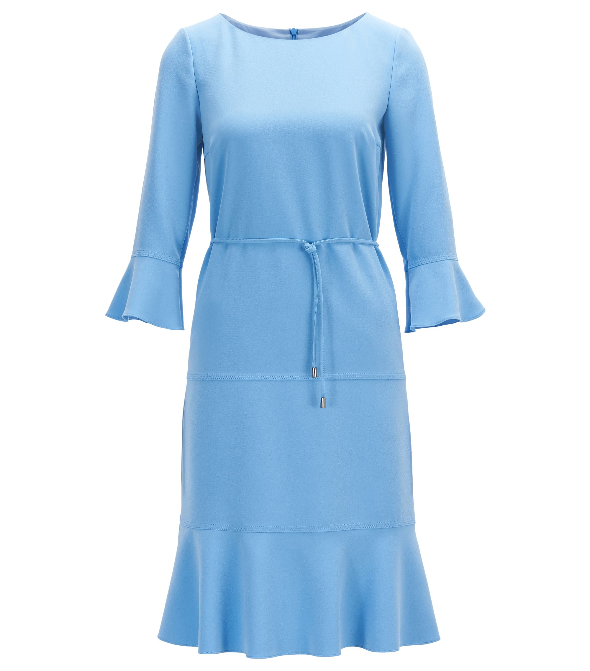 Robe à encolure large avec ceinture amovible, Turquoise