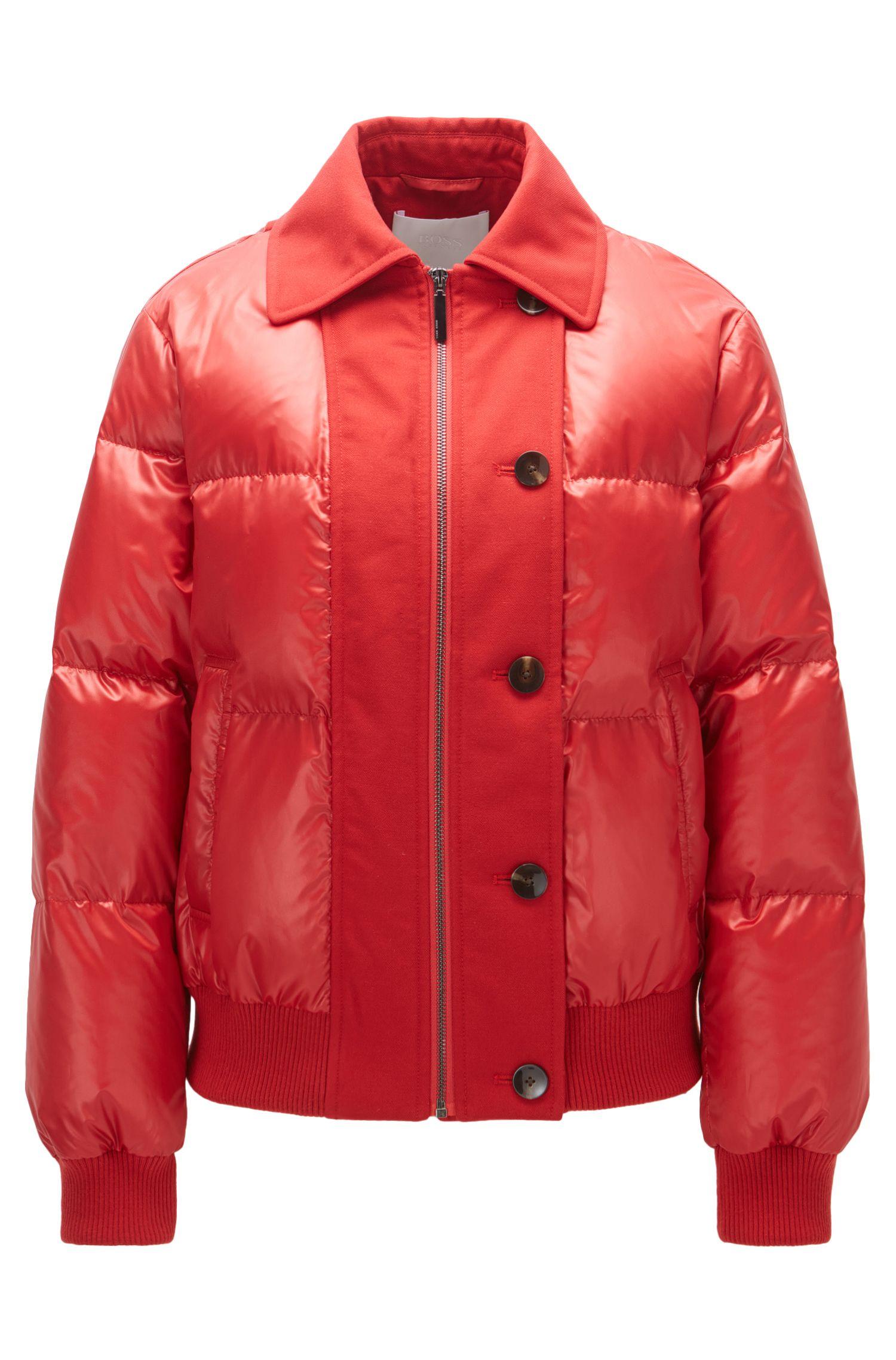 Regular-fit down jacket in water-repellent fabric