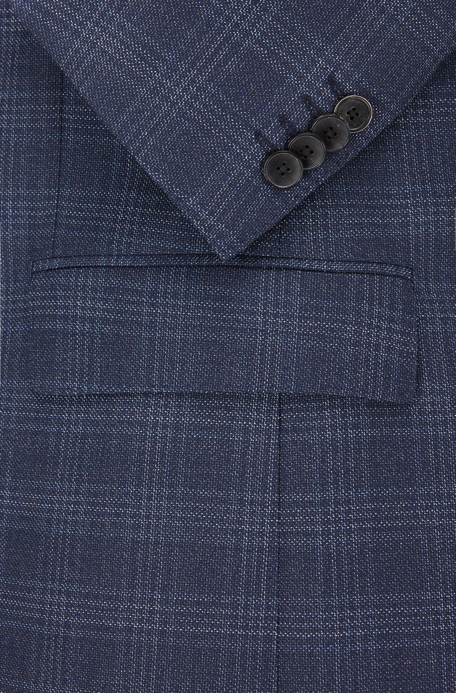 Costume Slim Fit en sergé de laine vierge à carreaux