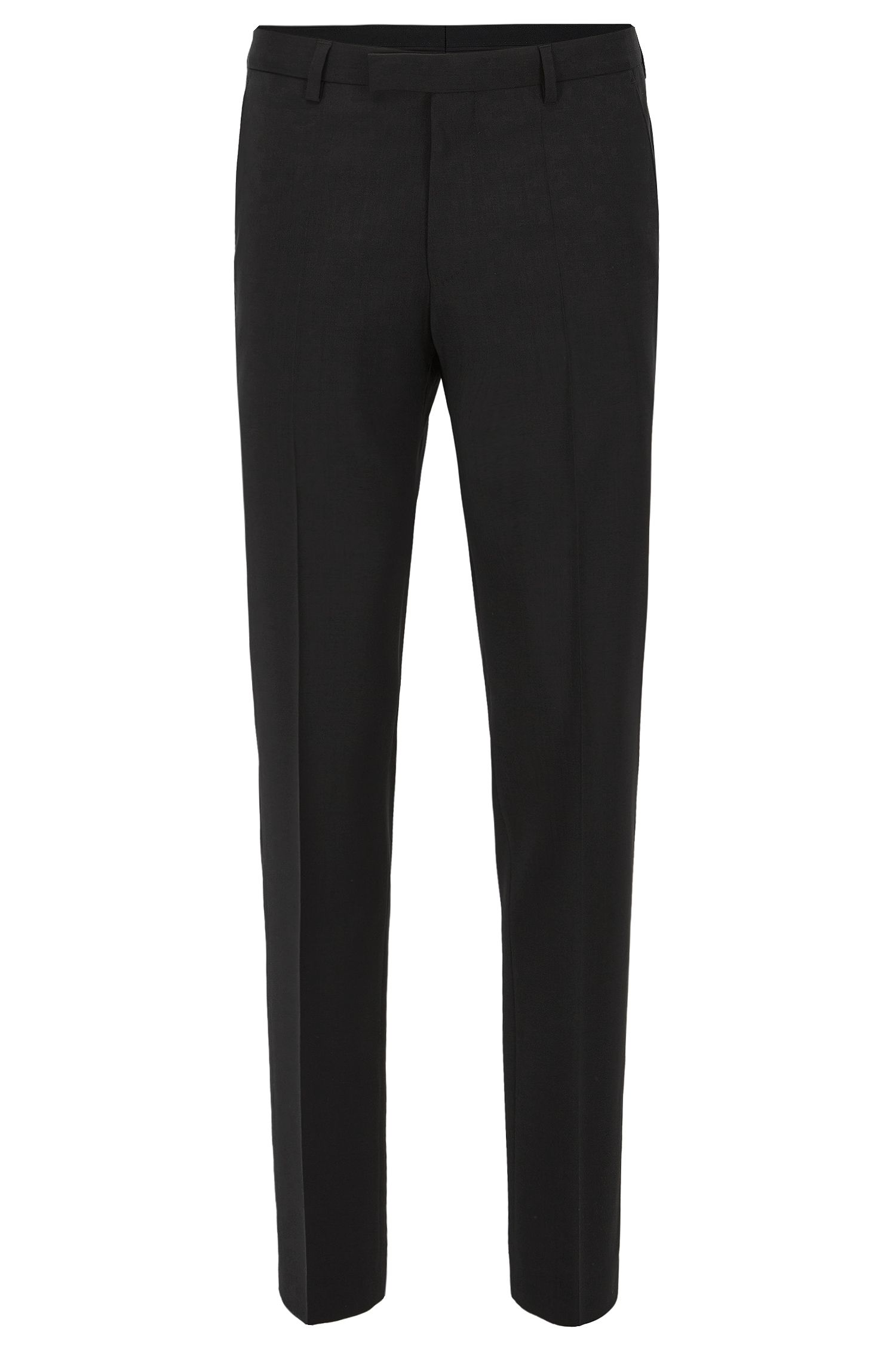 Regular-fit pantalon van scheerwol