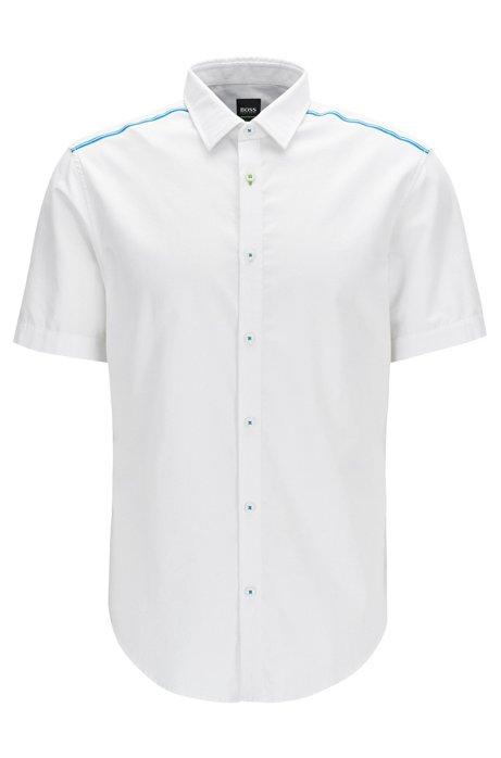 HUGO BOSS Polo Slim Fit en coton avec gestion de l'humidité 5Y6aEpiAY