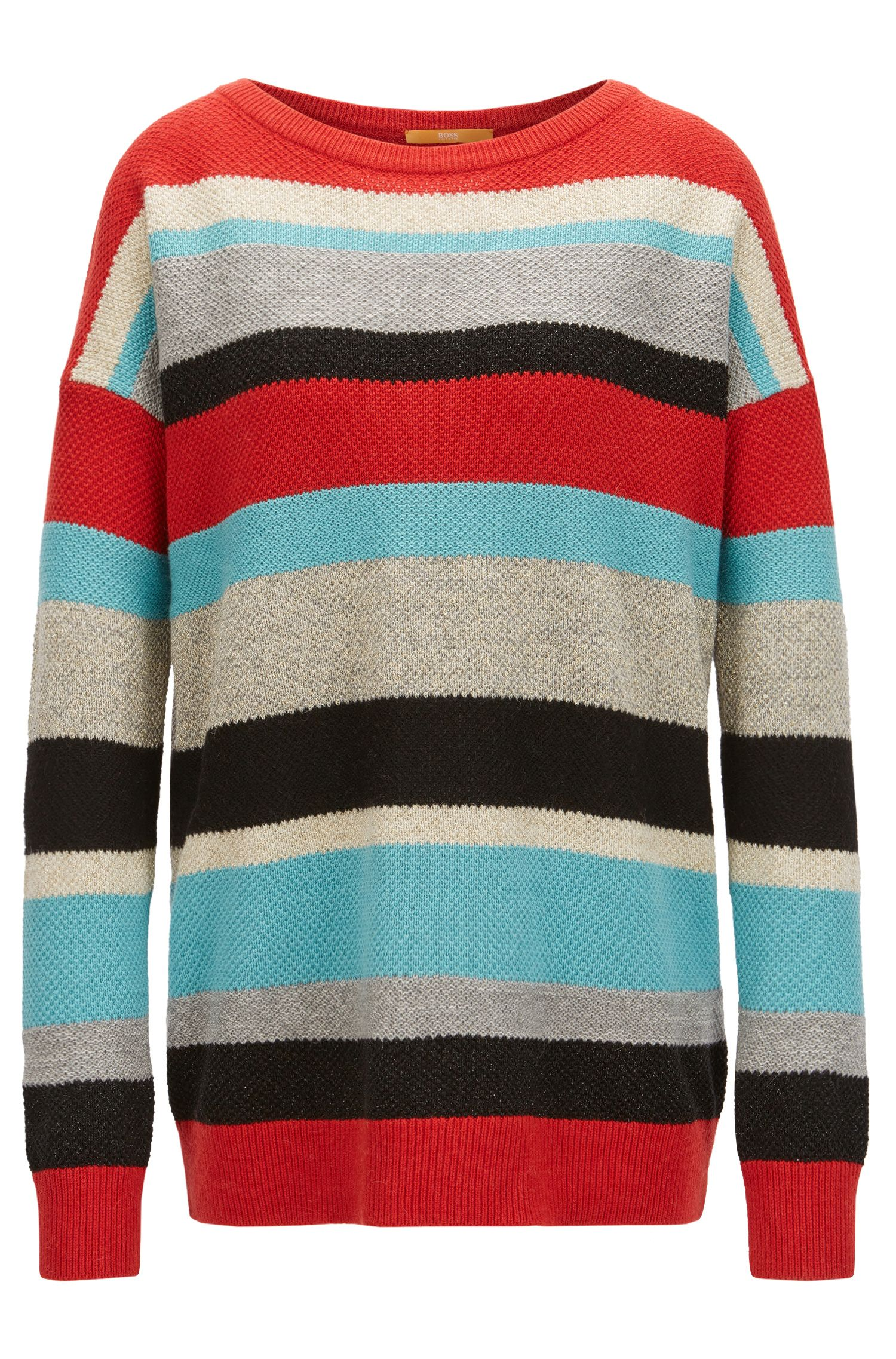Jersey a rayas de varios colores en punto con textura