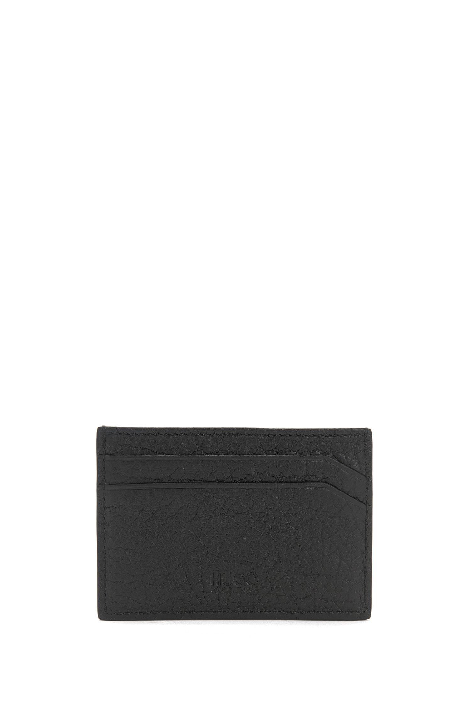 Porte-cartes en cuir texturé à clous