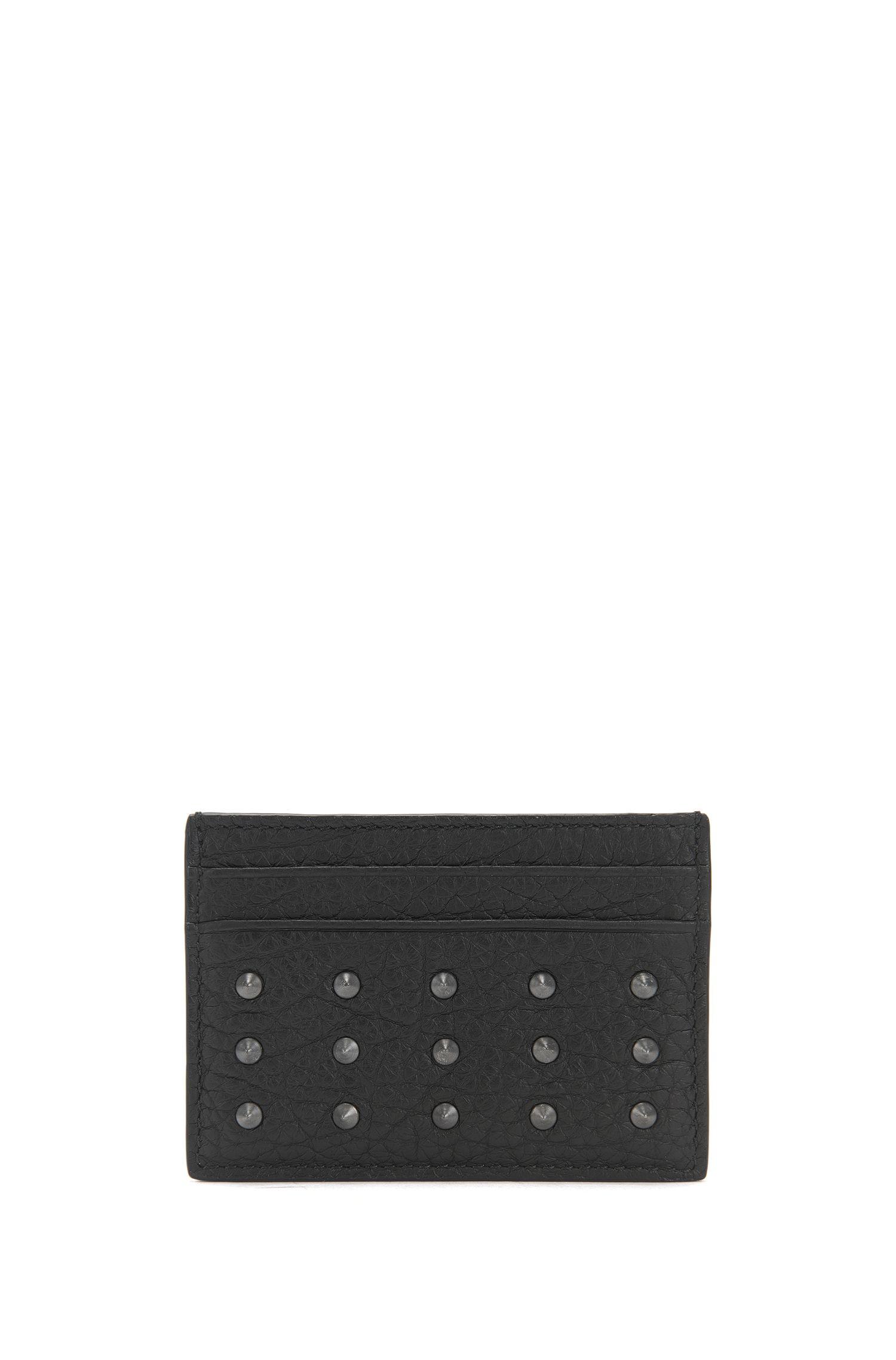 Porte-cartes en cuir texturé à clous cqN3K32