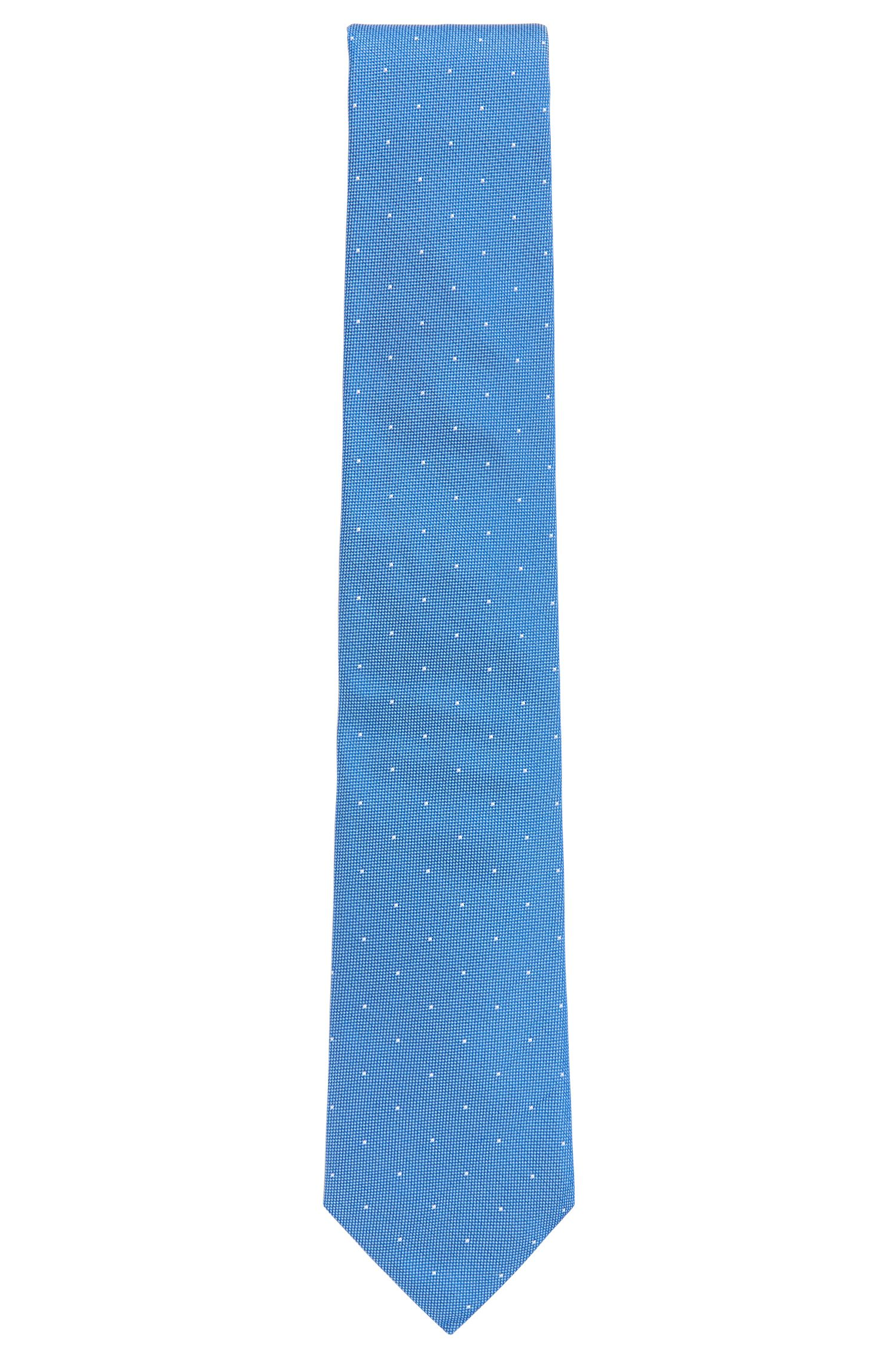 In Italien gefertigte Krawatte aus Seiden-Jacquard mit Punkten