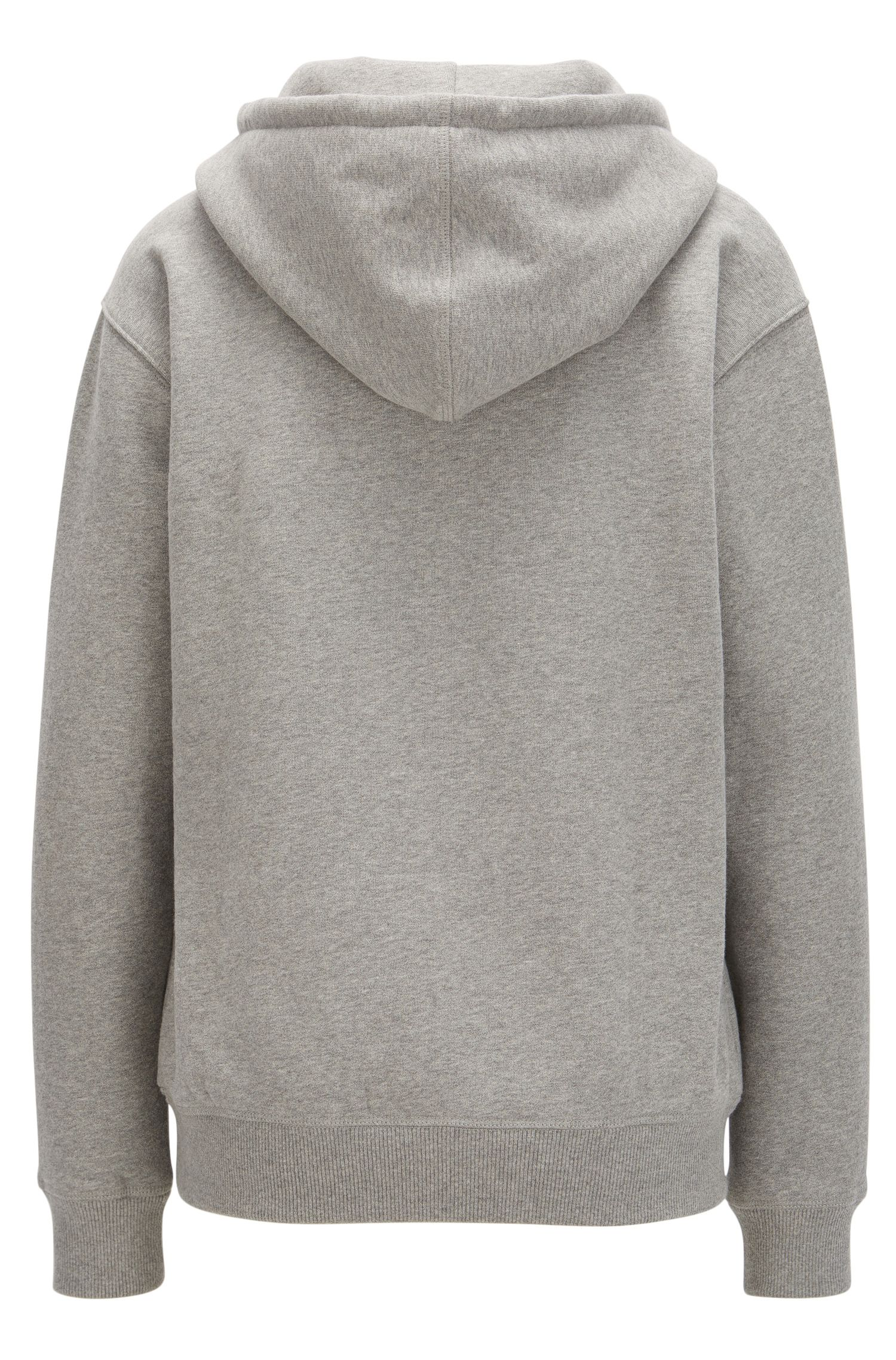 Hooded sweater in a cotton blend
