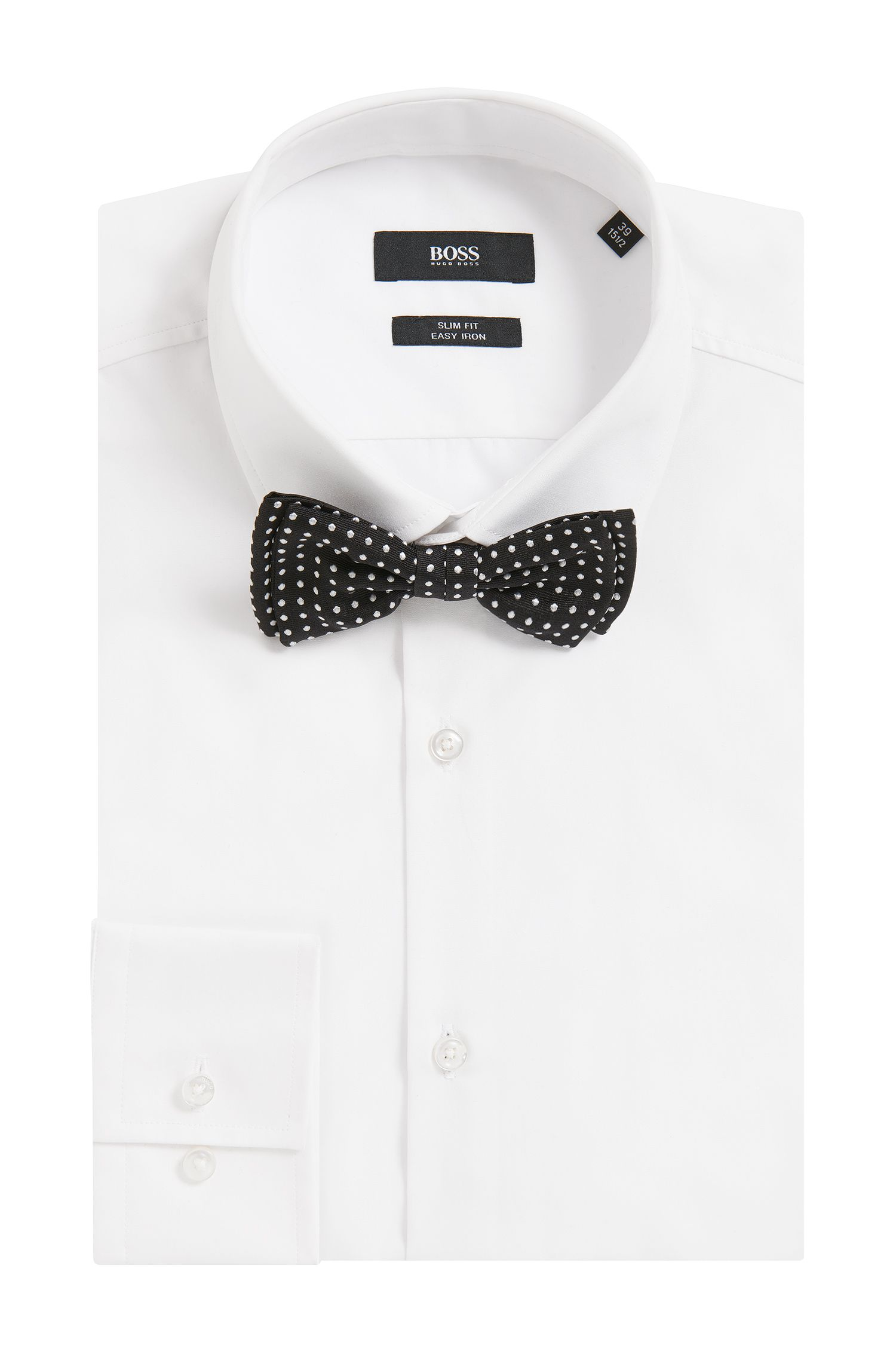 Polka-dot bow tie in pure silk