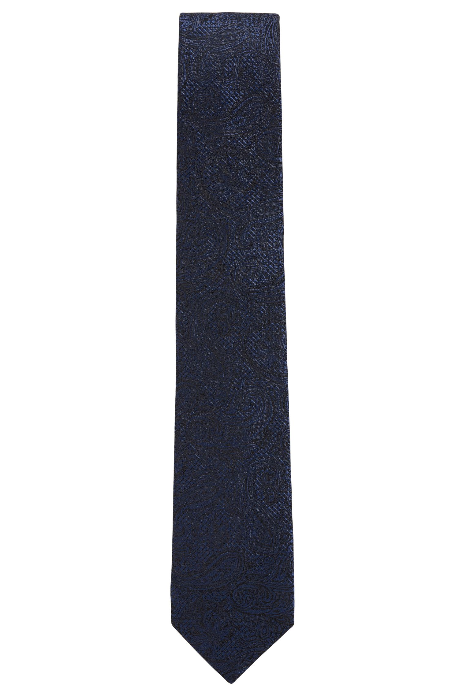 Italian-made tie in patterned silk