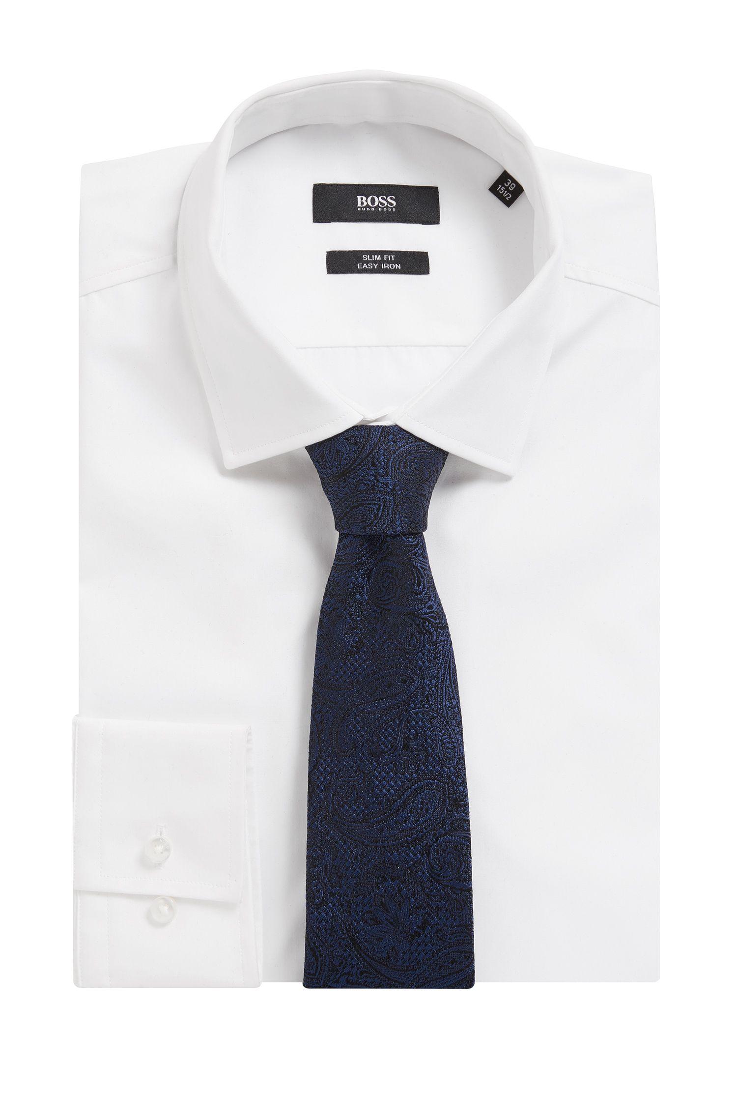 Cravate en soie à motif confectionnée en Italie