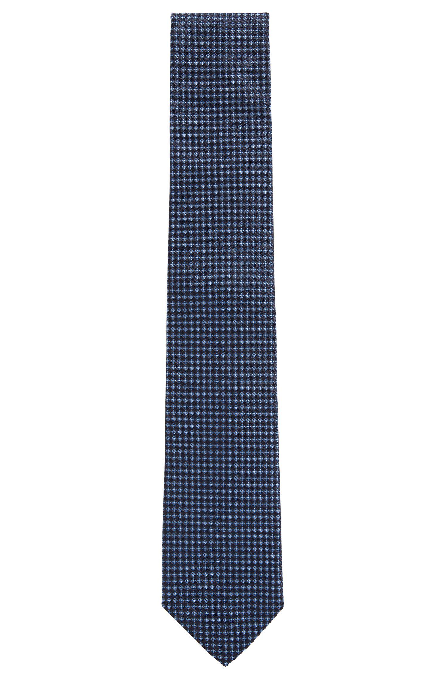 In Italien gefertigte Krawatte aus gemusterter Seide