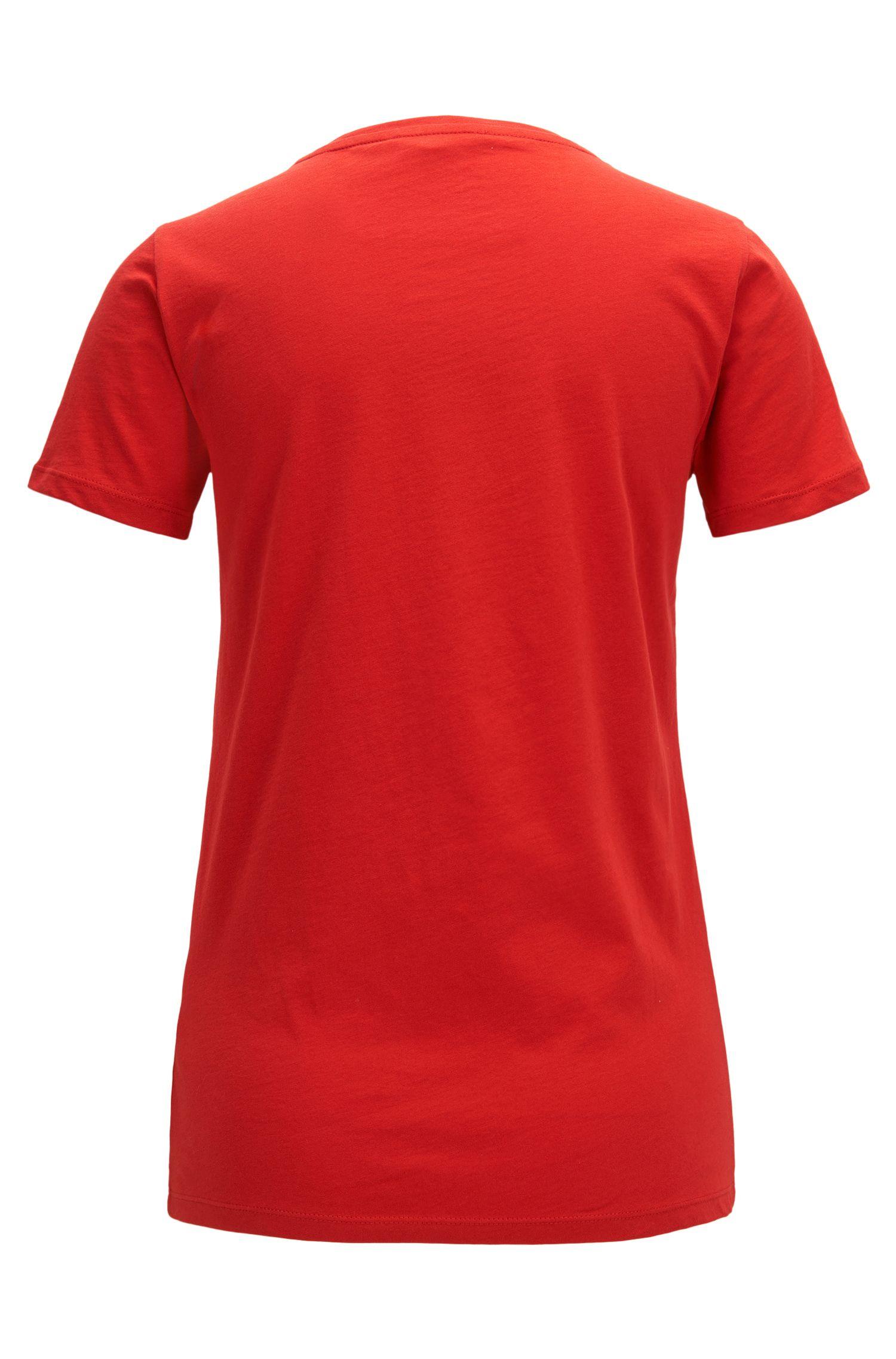T-shirt Slim Fit en coton à imprimé emblème