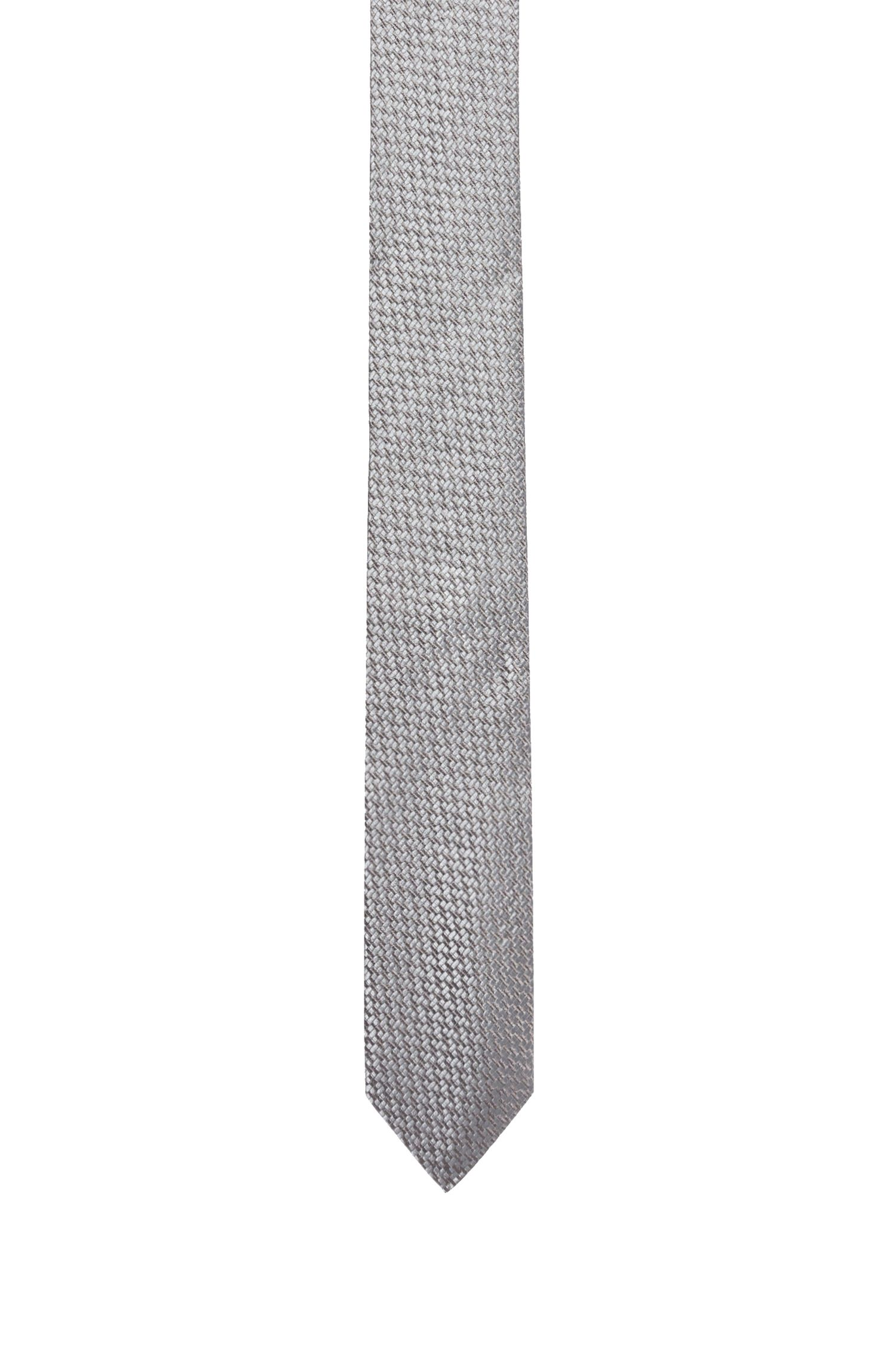 Silk tie with modern woven structure