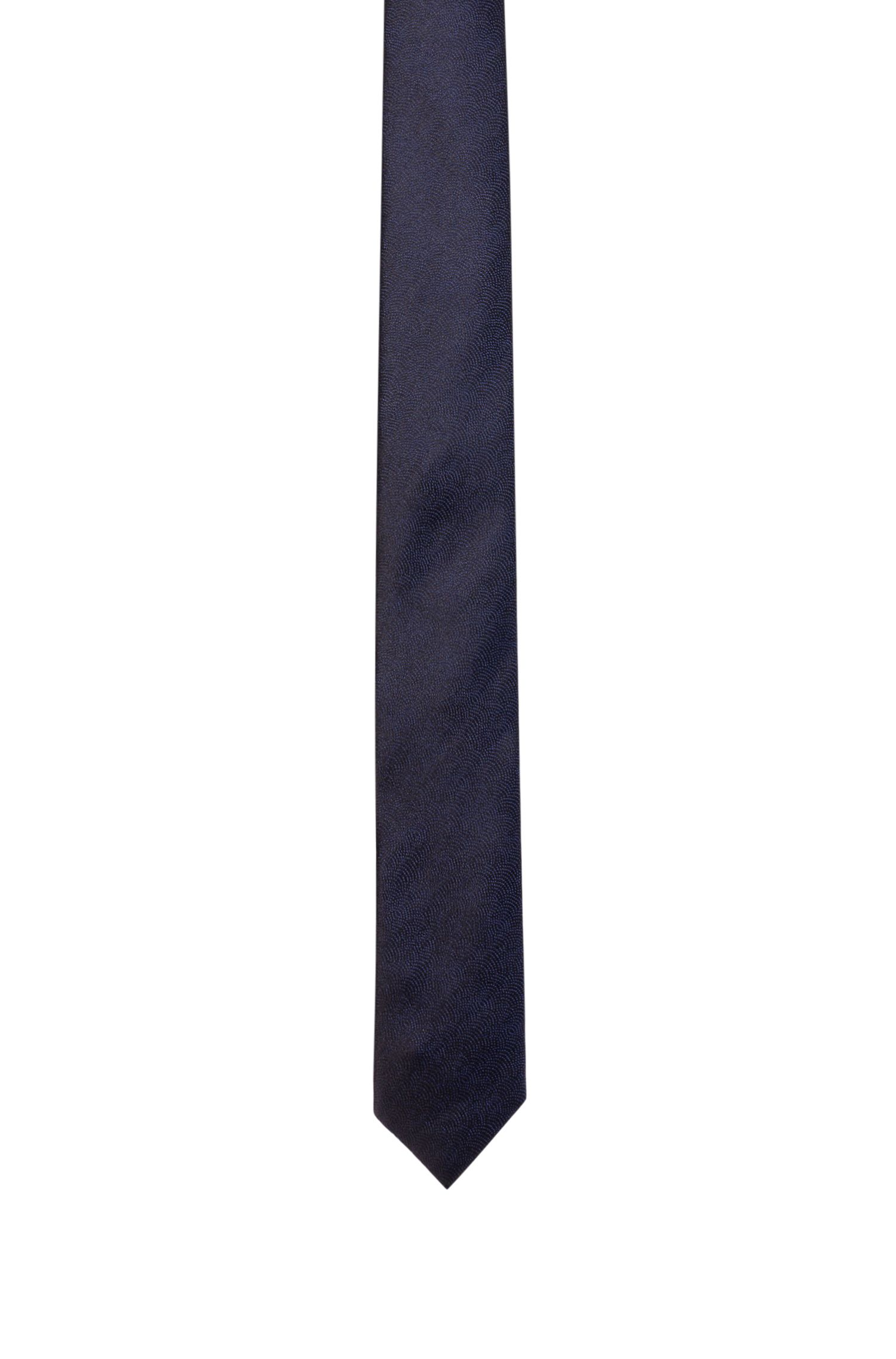 Geometric-pattern silk tie