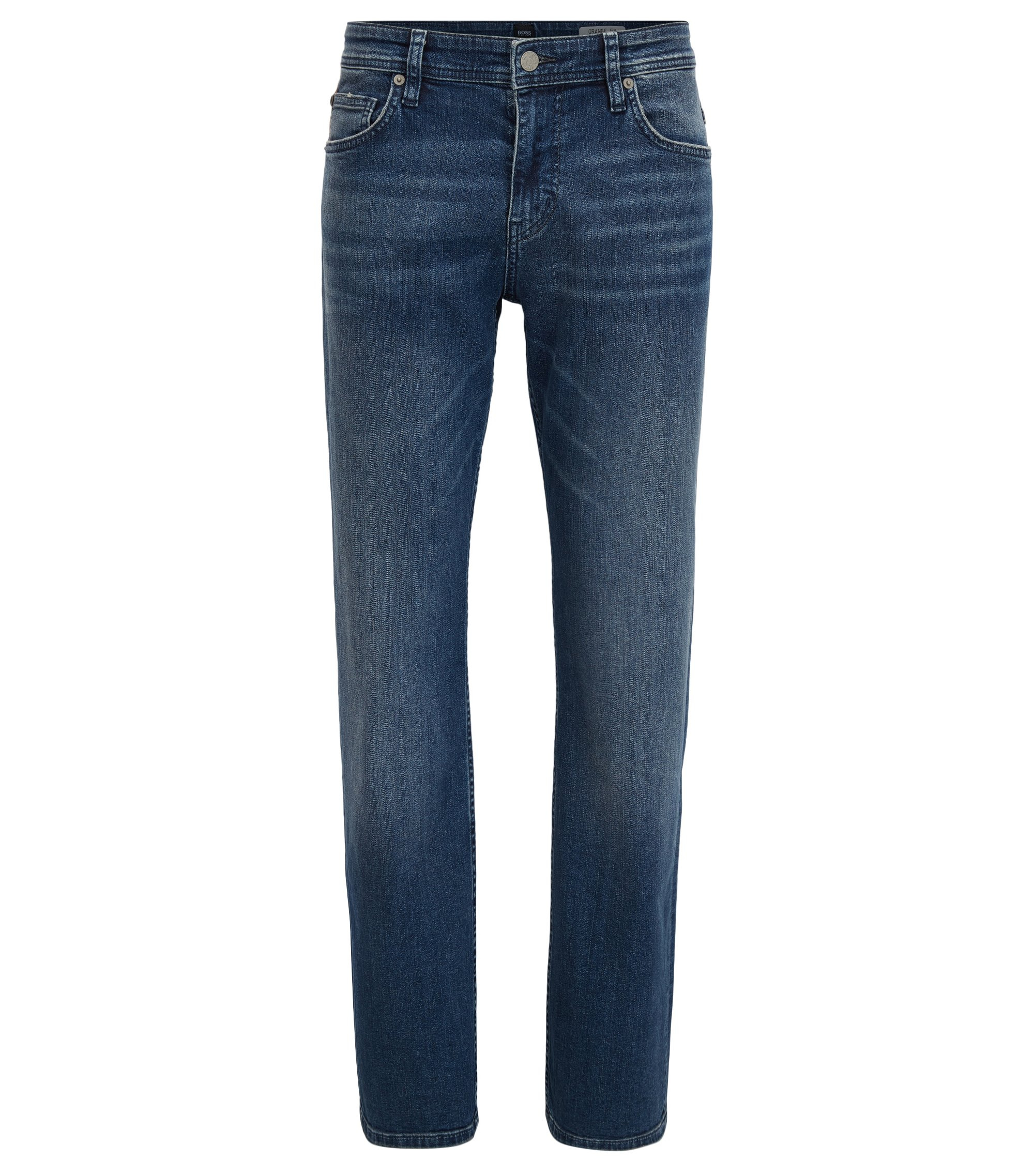 Relaxed-Fit Jeans aus komfortablem Stretch-Denim, Blau