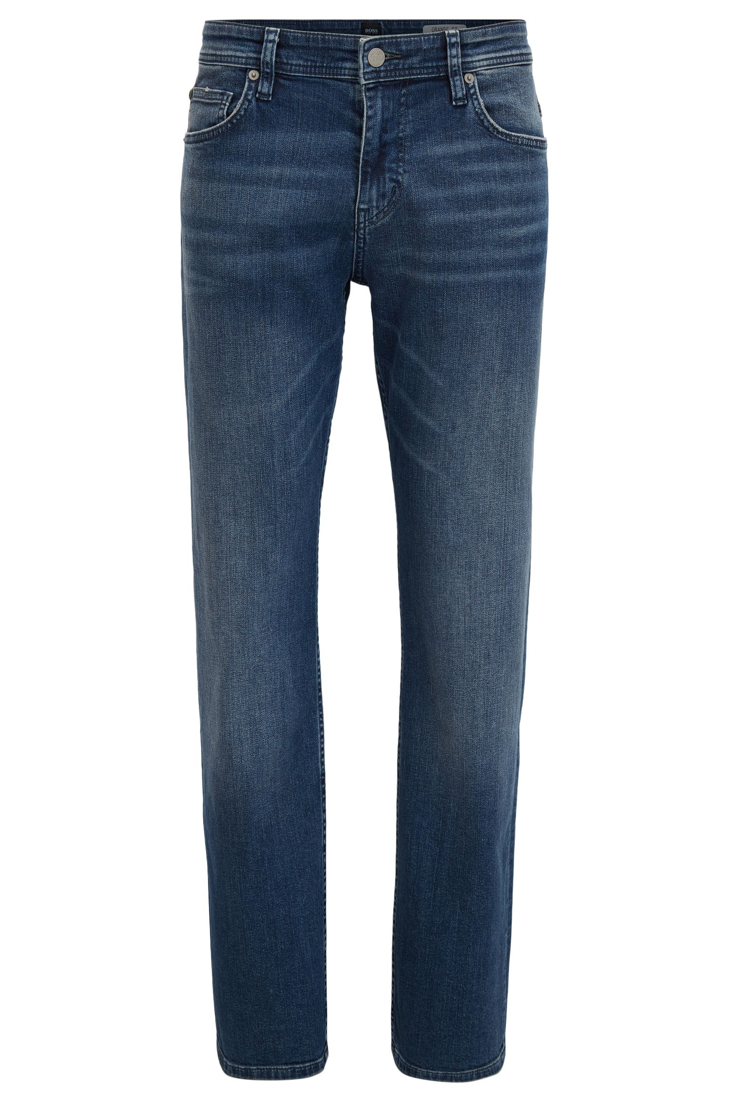 Relaxed-fit jeans in comfort-stretch denim