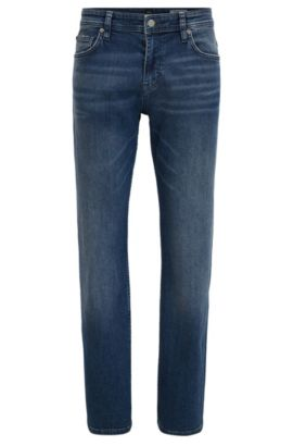 Relaxed-fit jeans in comfort-stretch denim, Blue
