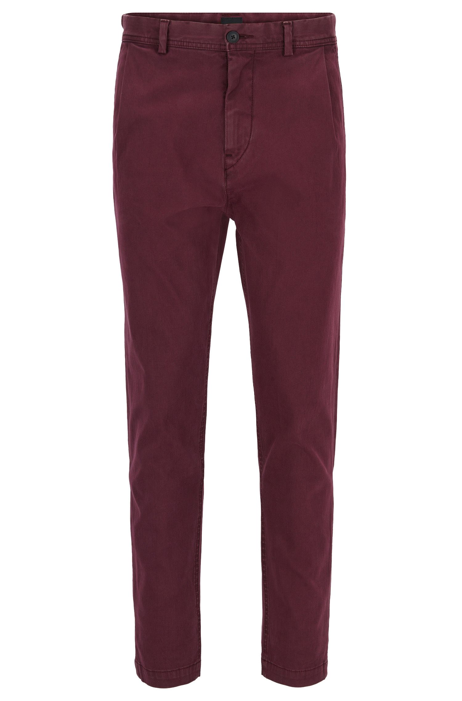 Tapered-fit broek van stretchkatoen