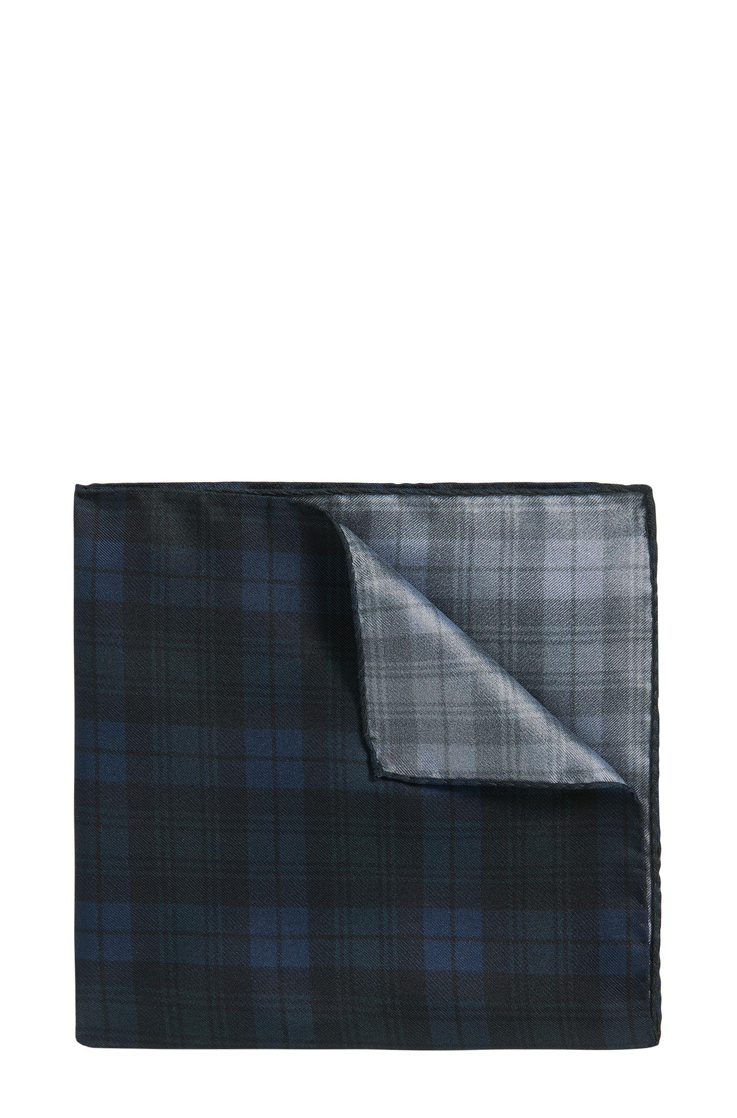 Pochette en soie à motif tartan