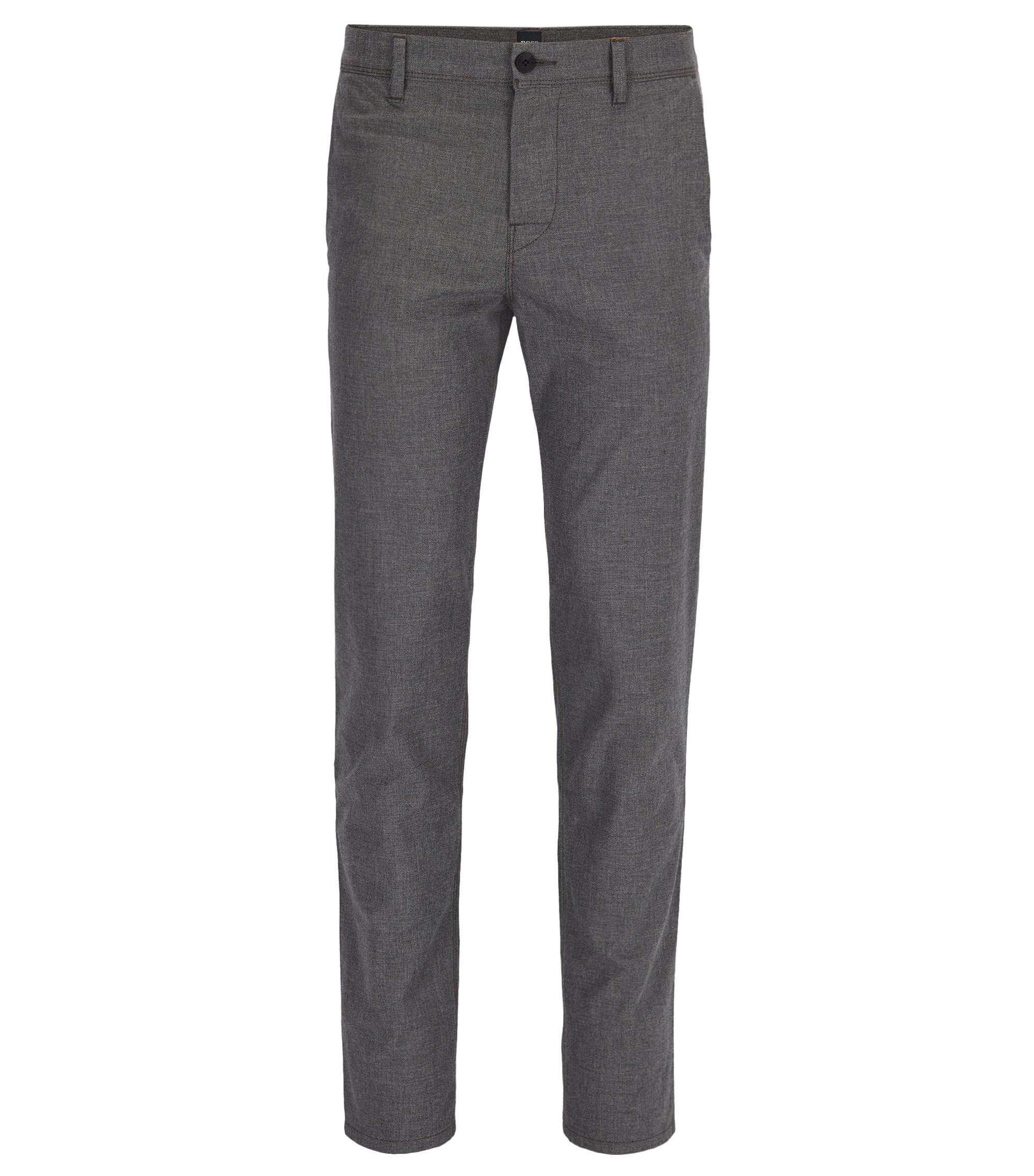 Pantalon Tapered Fit en coton stretch légèrement délavé, Anthracite