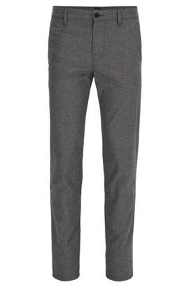 Pantalon-ajustement Conique Dans Le Patron De Coton Extensible Doux Lavé JlSAqK