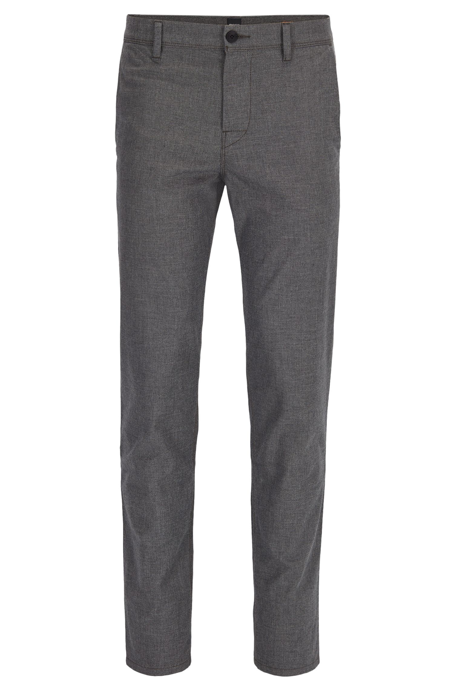 Pantalon Tapered Fit en coton stretch légèrement délavé