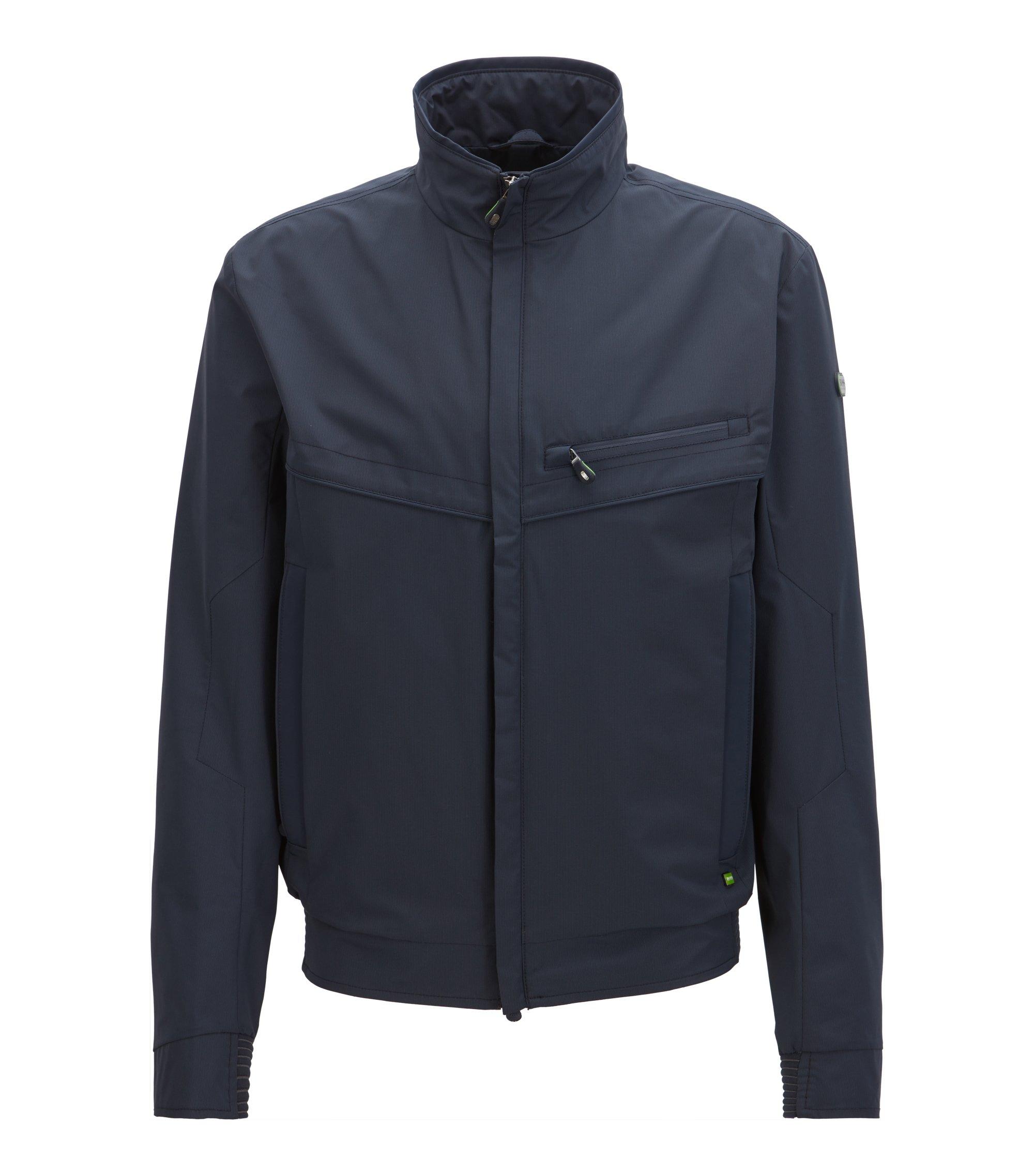 Wasserabweisende Jacke mit Reißverschluss, Dunkelblau